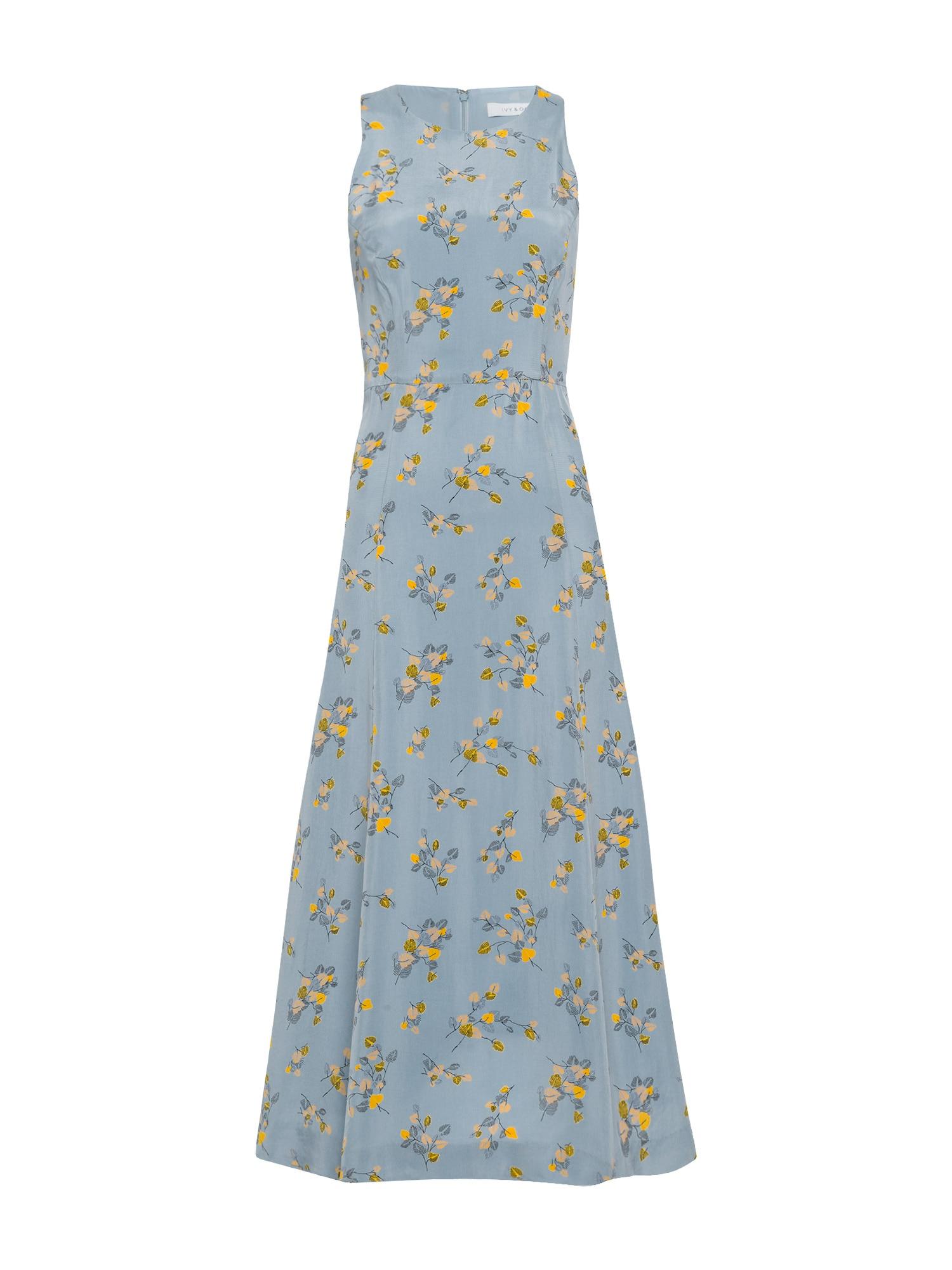 Letní šaty Printed Midi Dress modrá mix barev IVY & OAK