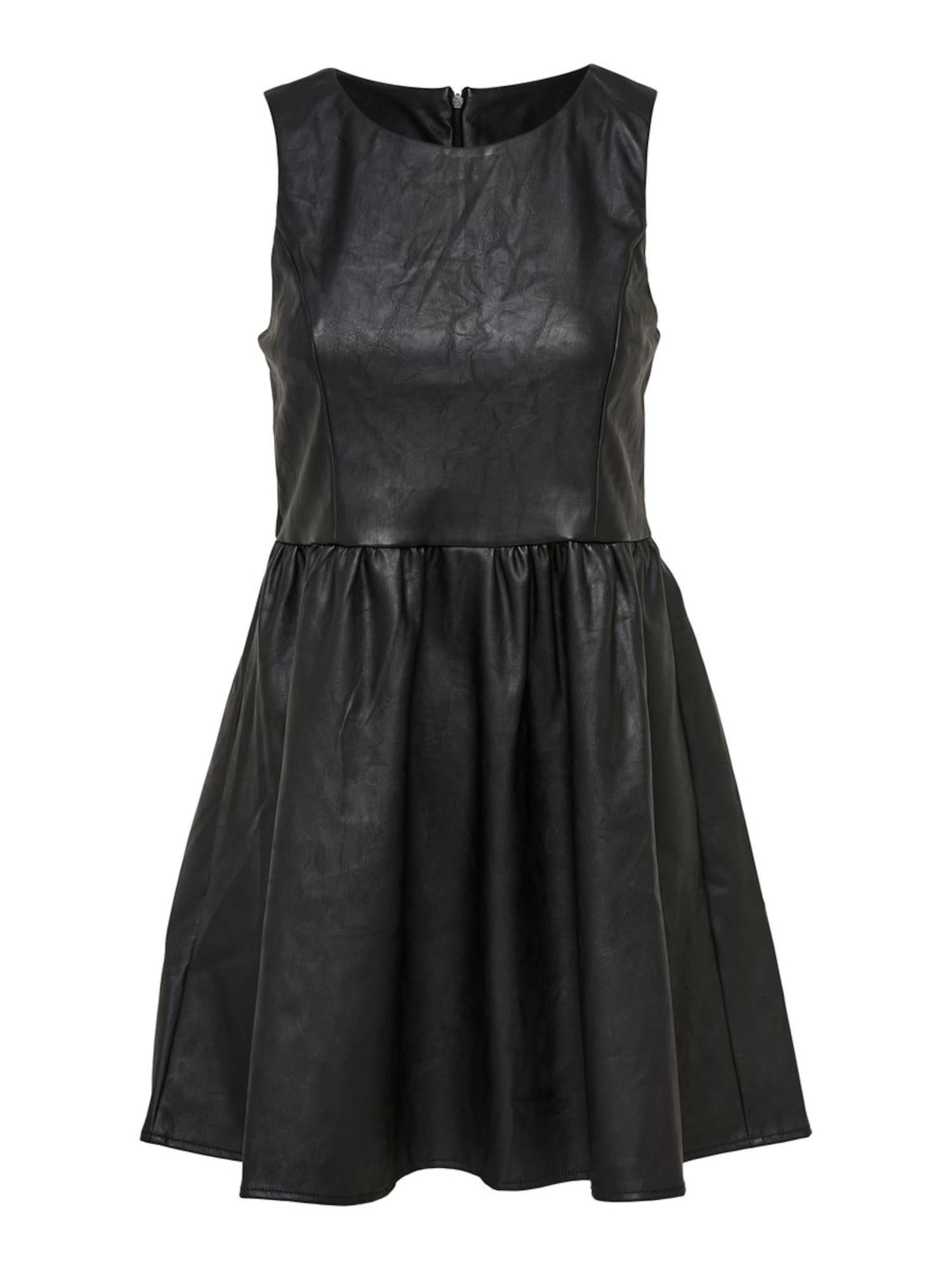Šaty onlWILSHIRE PU DRESS PNT černá ONLY