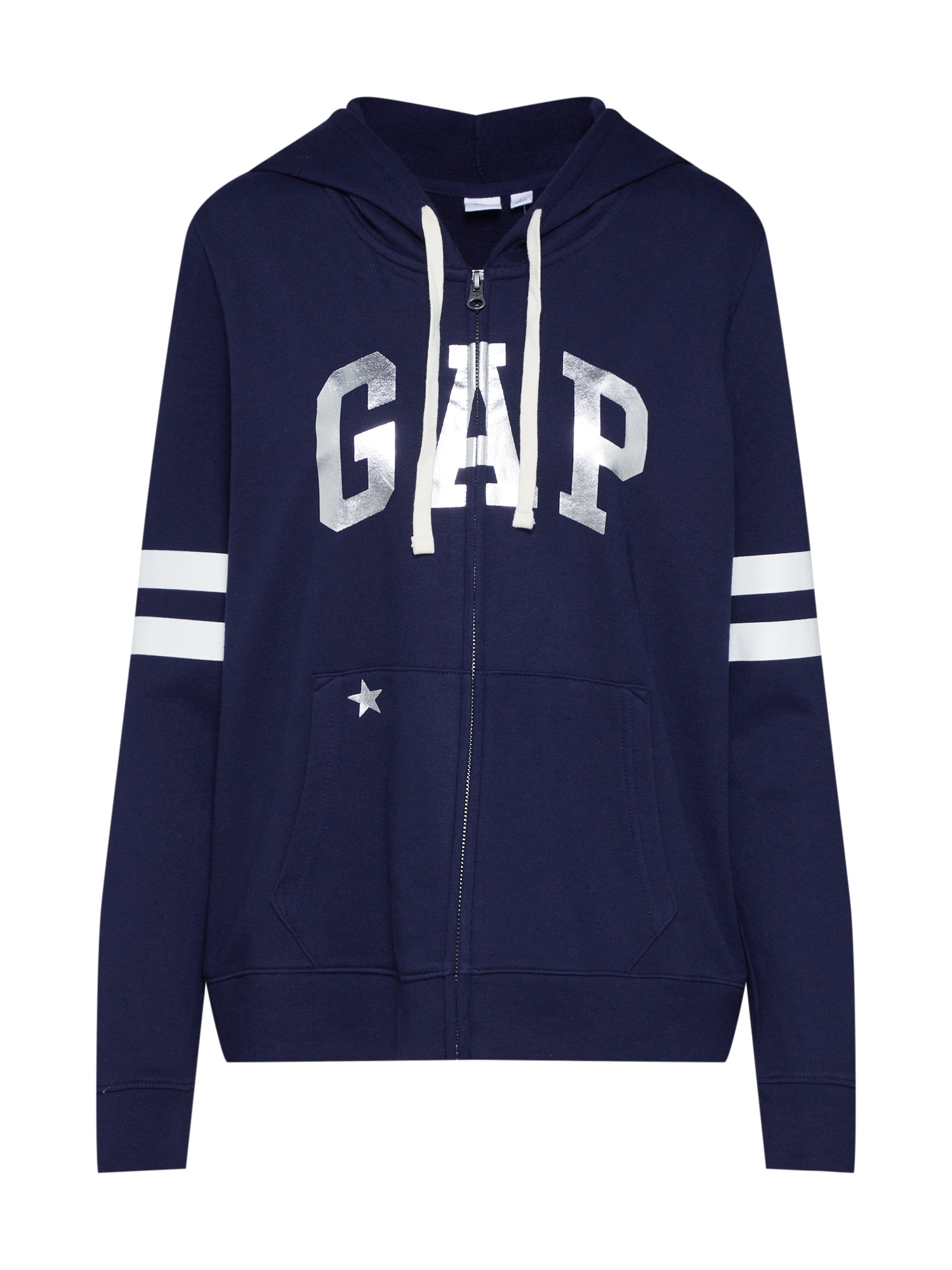 Mikina s kapucí V- INDEP FZ námořnická modř GAP