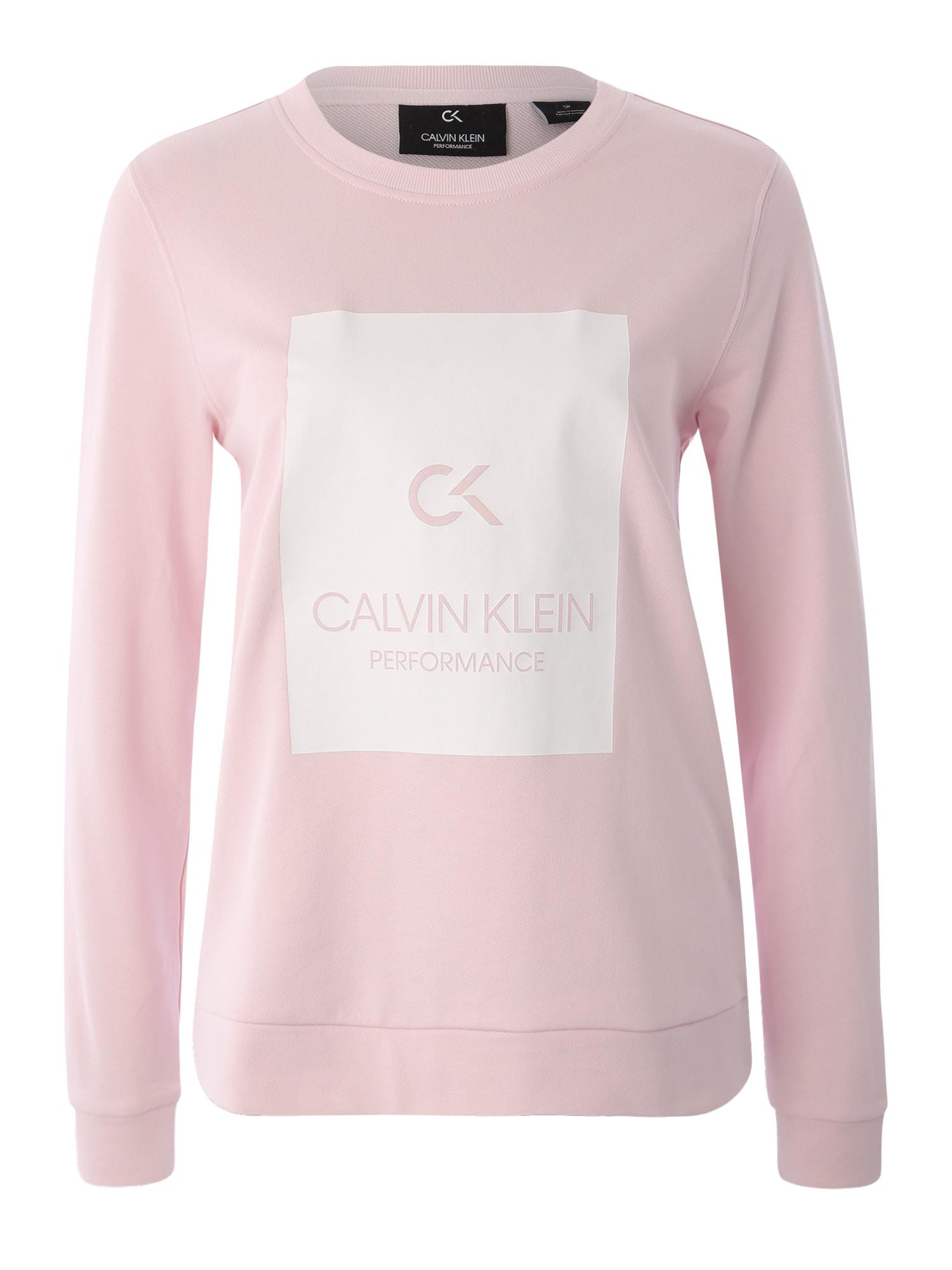 Sportovní mikina BILLBOARD růžová Calvin Klein Performance