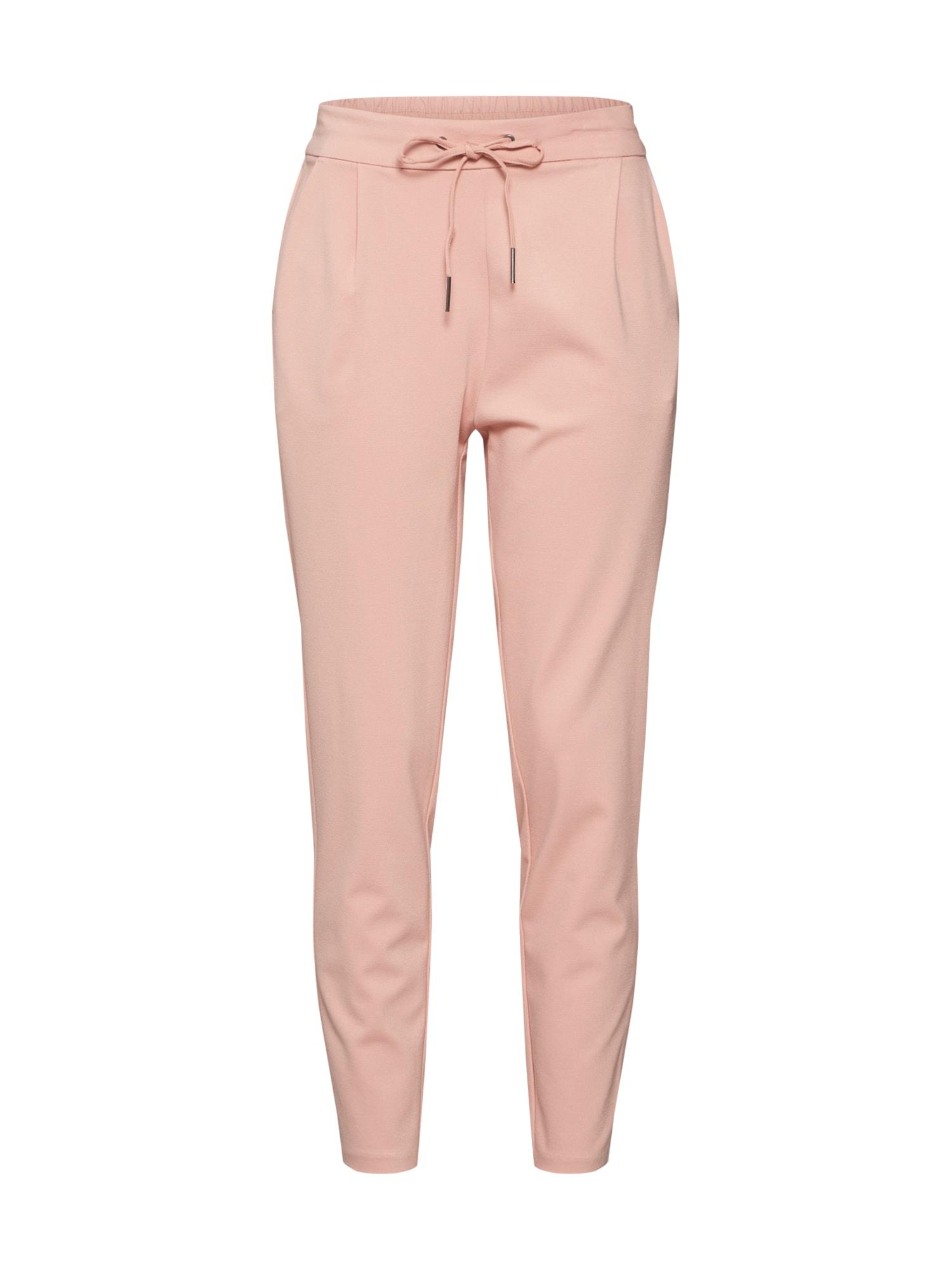 Kalhoty se sklady v pase růžová VERO MODA
