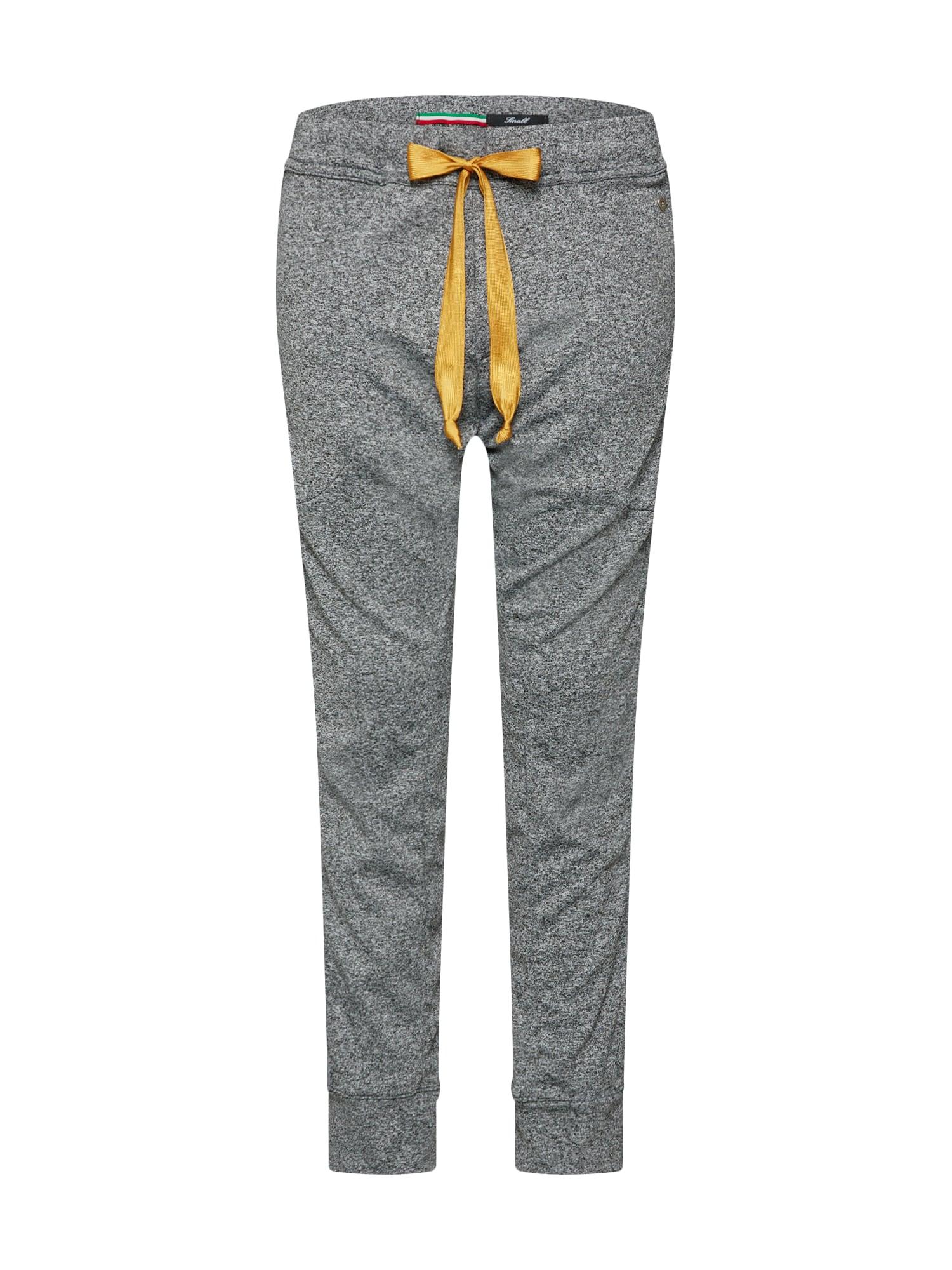 Kalhoty šedý melír PLEASE