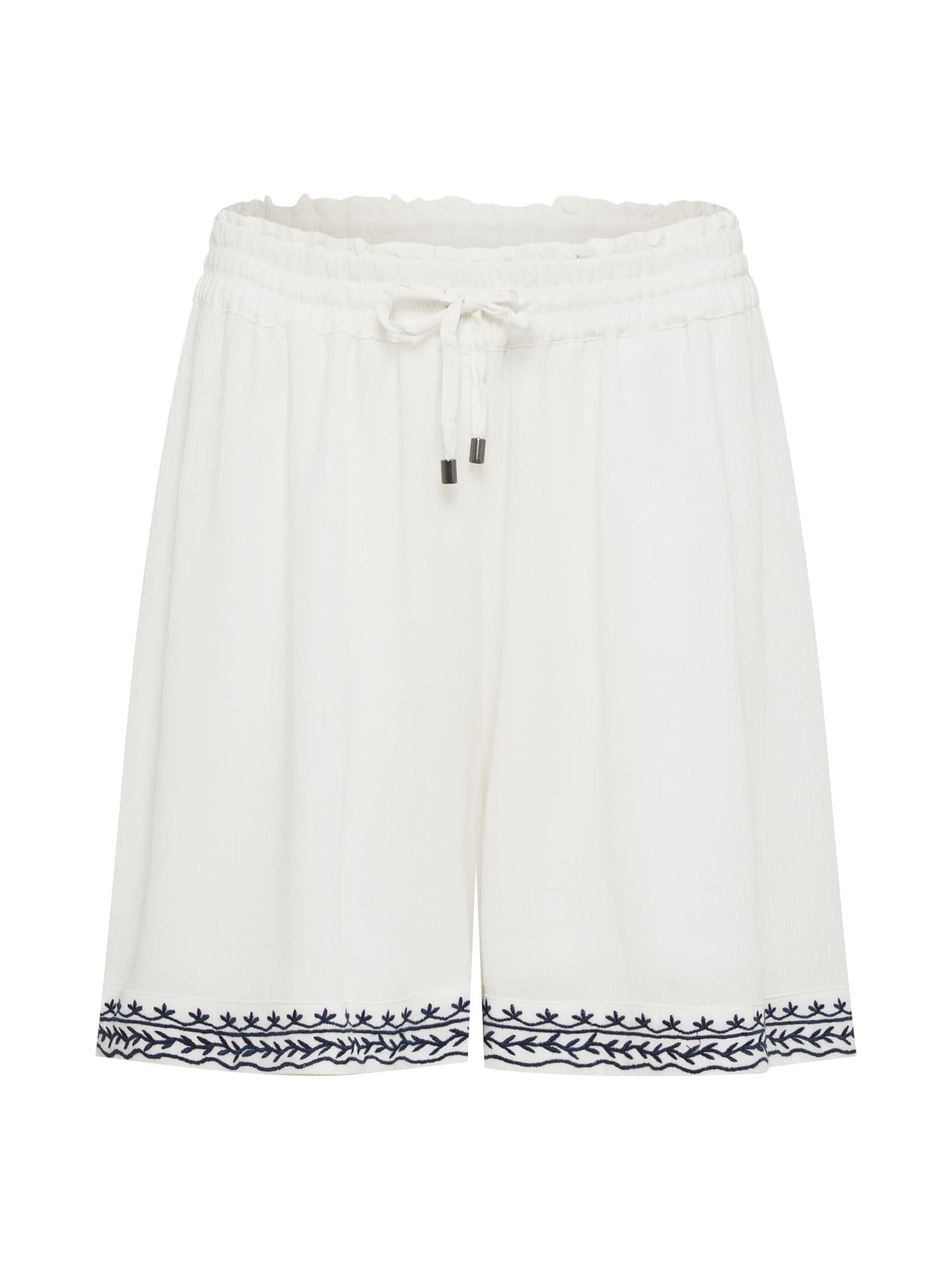 Kalhoty HOUSTON tmavě modrá bílá VERO MODA