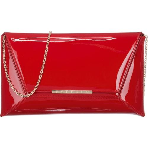 Die elegante BUFFALO Abendtasche hat mit ihrer synthetischen Oberfläche in Lackleder-Optik eine anziehende Wirkung. Die goldig glänzende Tragekette ist abnehmbar und verleiht der Tasche zusätzlichen Glamour. - Verschluss: Magnetverschluss - Couvert-Design - integriertes