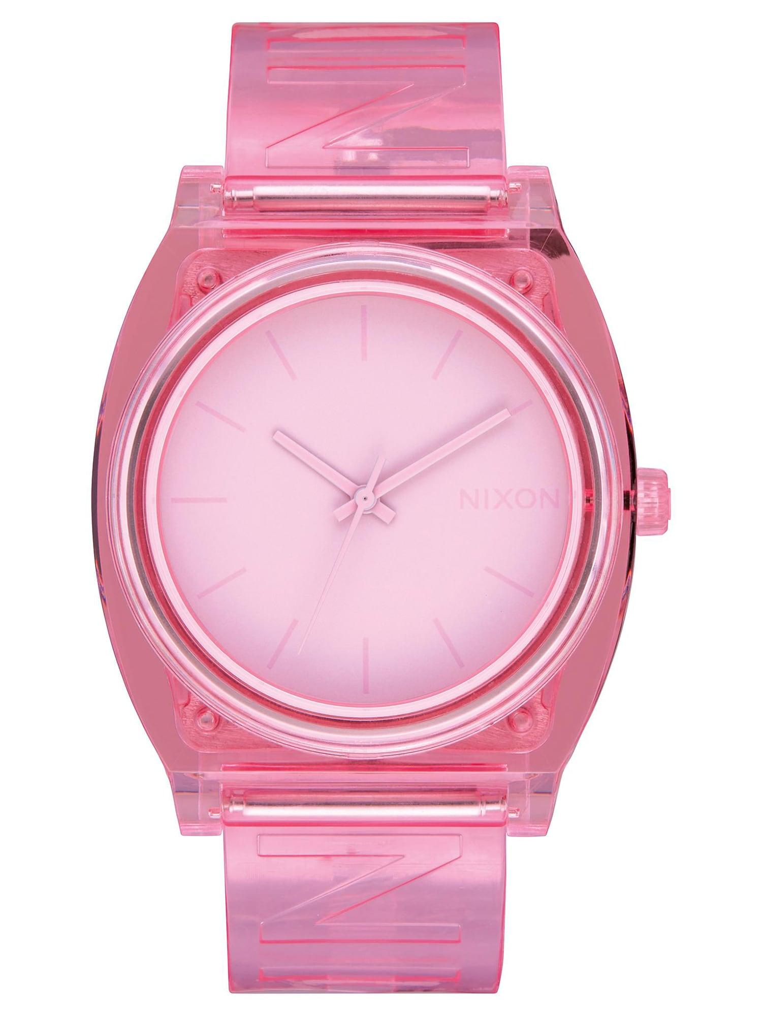 Analogové hodinky Time Teller Summer pink Nixon