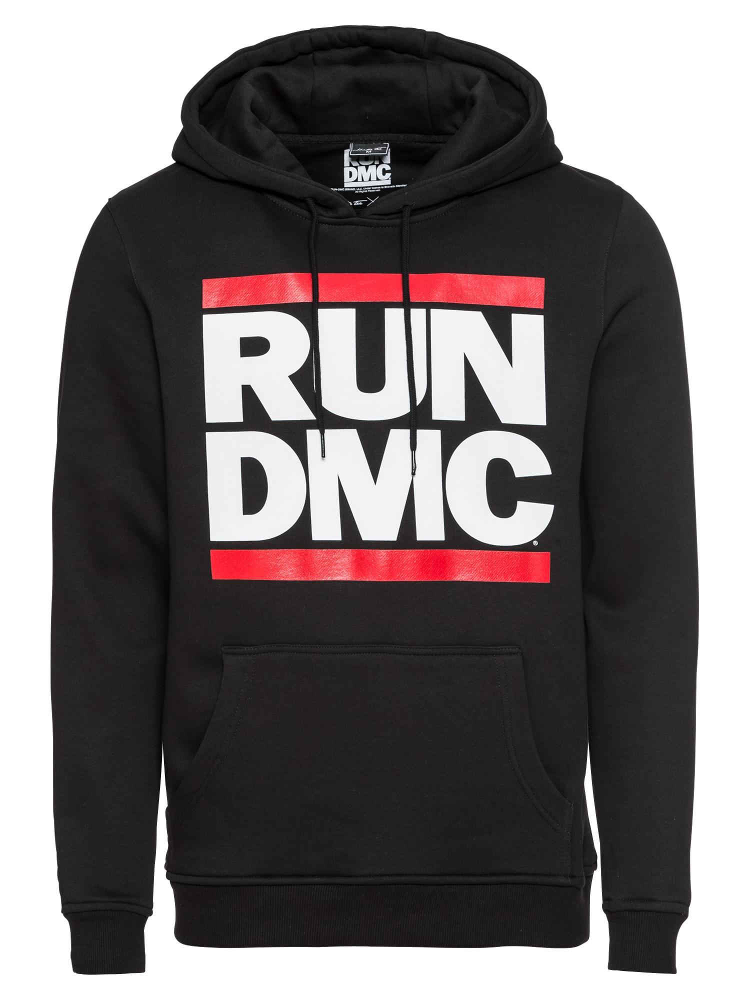 Mister Tee Mikina 'Run DMC'  červená / černá / bílá