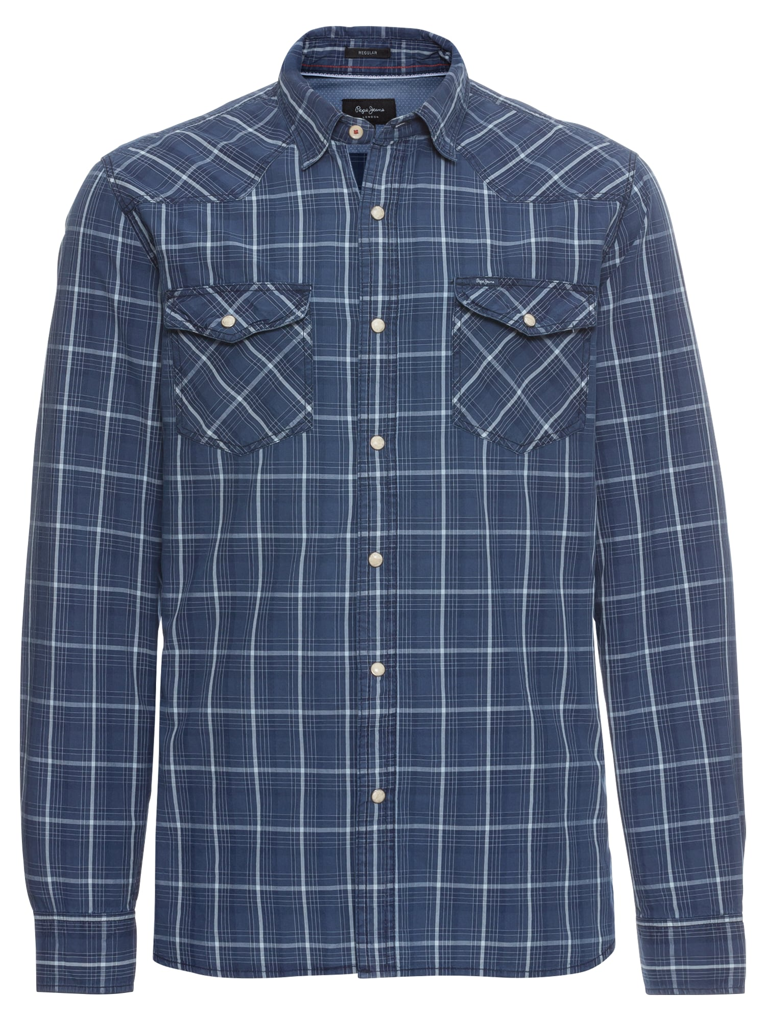 Pepe Jeans Heren Overhemd ALEPH indigo wit