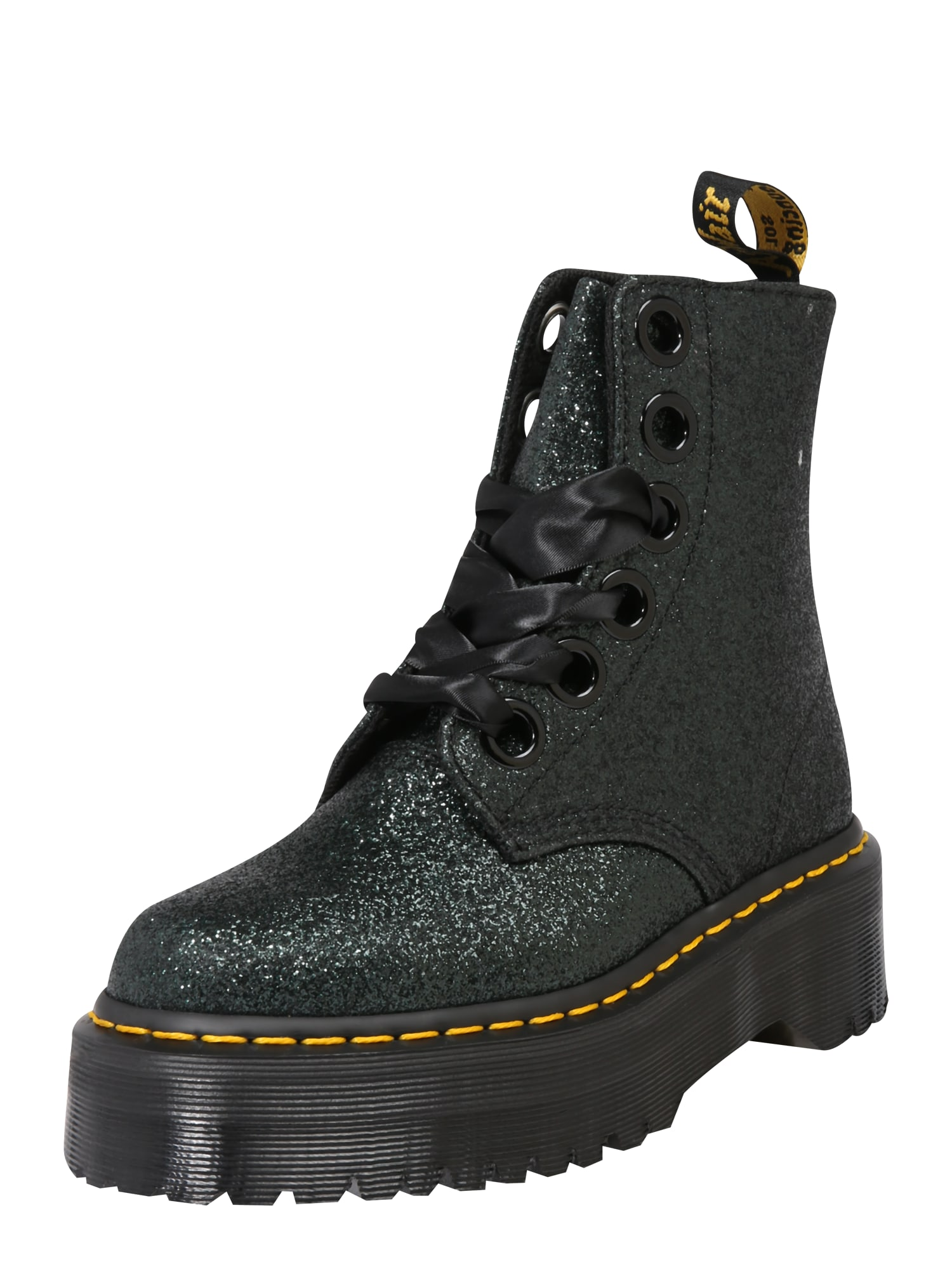 Šněrovací boty 6 Eye Lolita Boot Molly tmavě zelená Dr. Martens