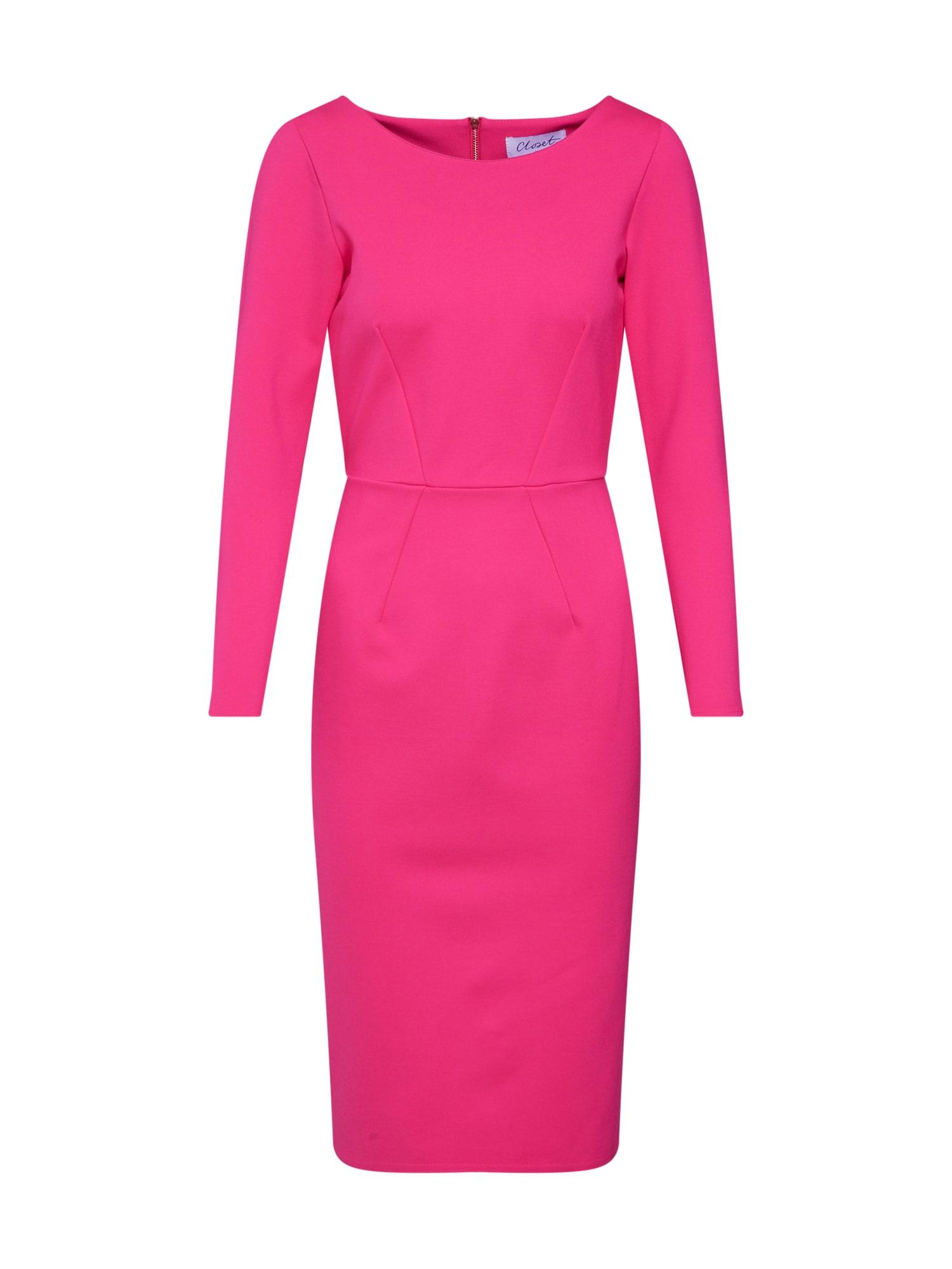 Koktejlové šaty fuchsiová Closet London