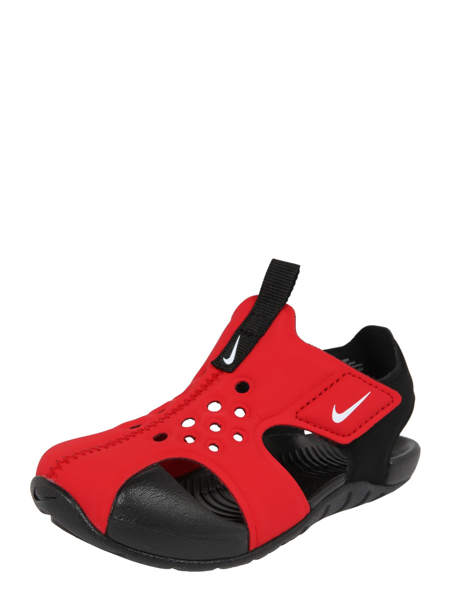 Plážovákoupací obuv Sunray Protect 2 TD červená černá Nike Sportswear
