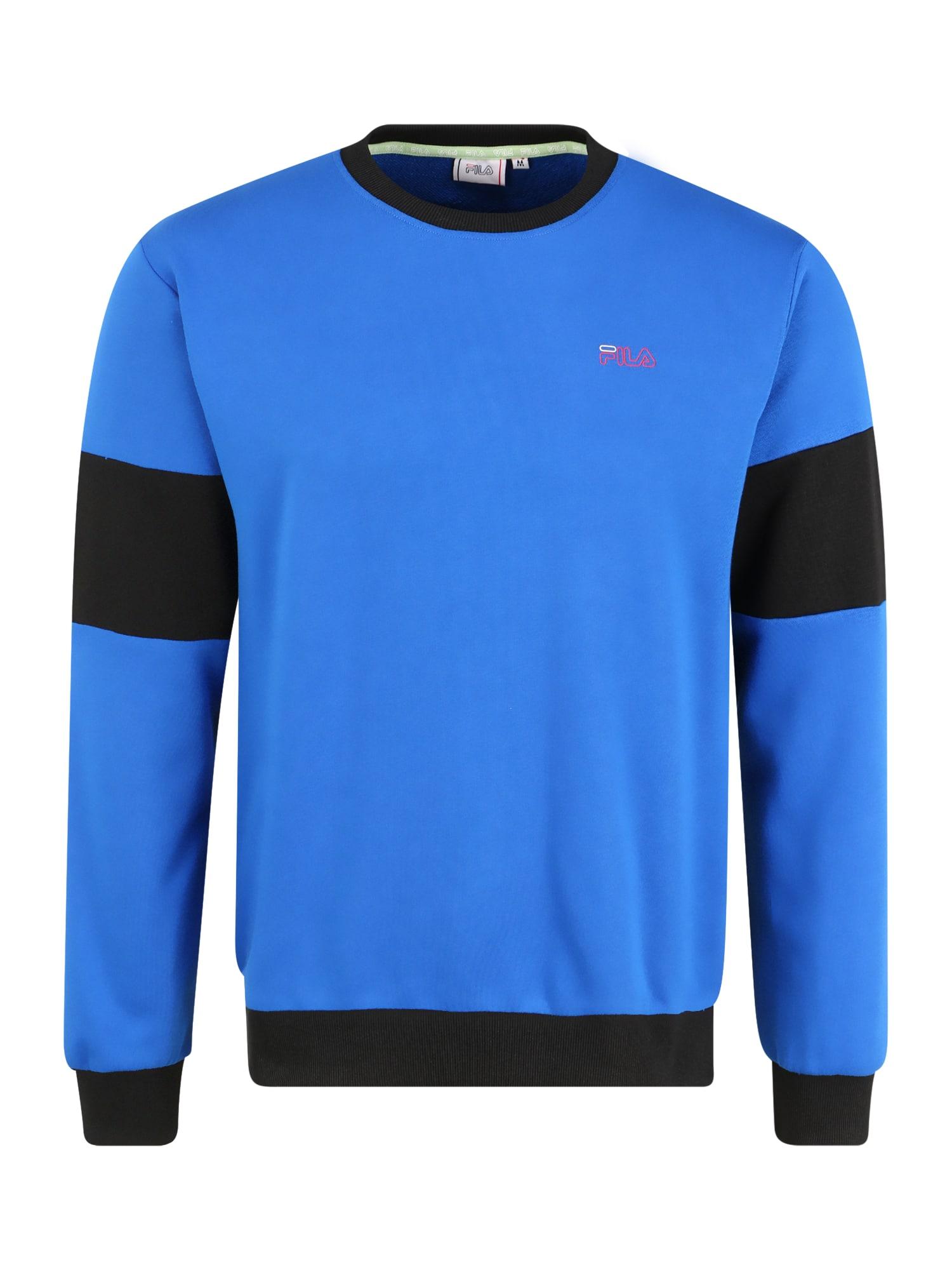 FILA Sportovní mikina 'Lennox'  černá / modrá