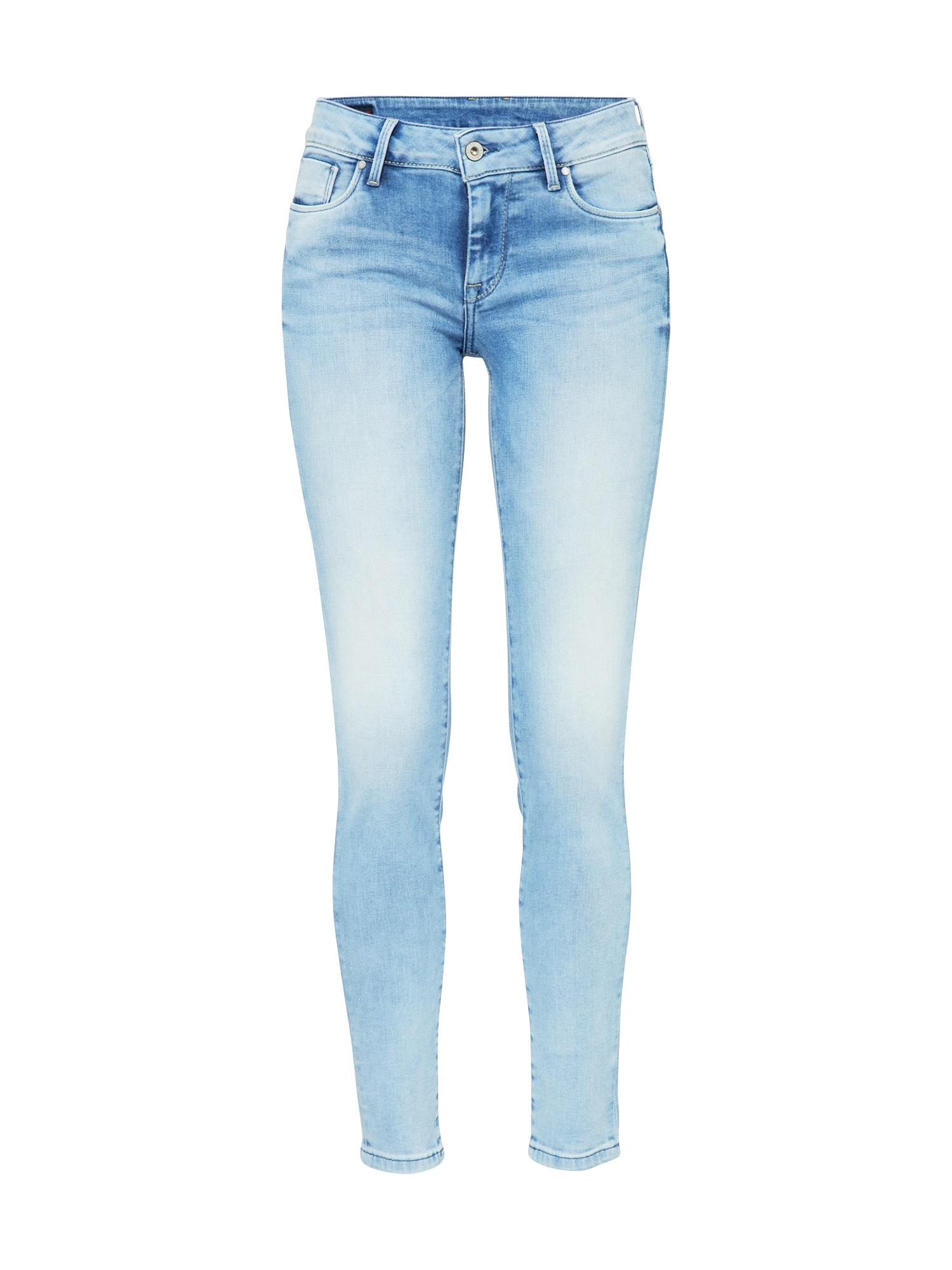 Pepe Jeans Dames Jeans Soho blauw