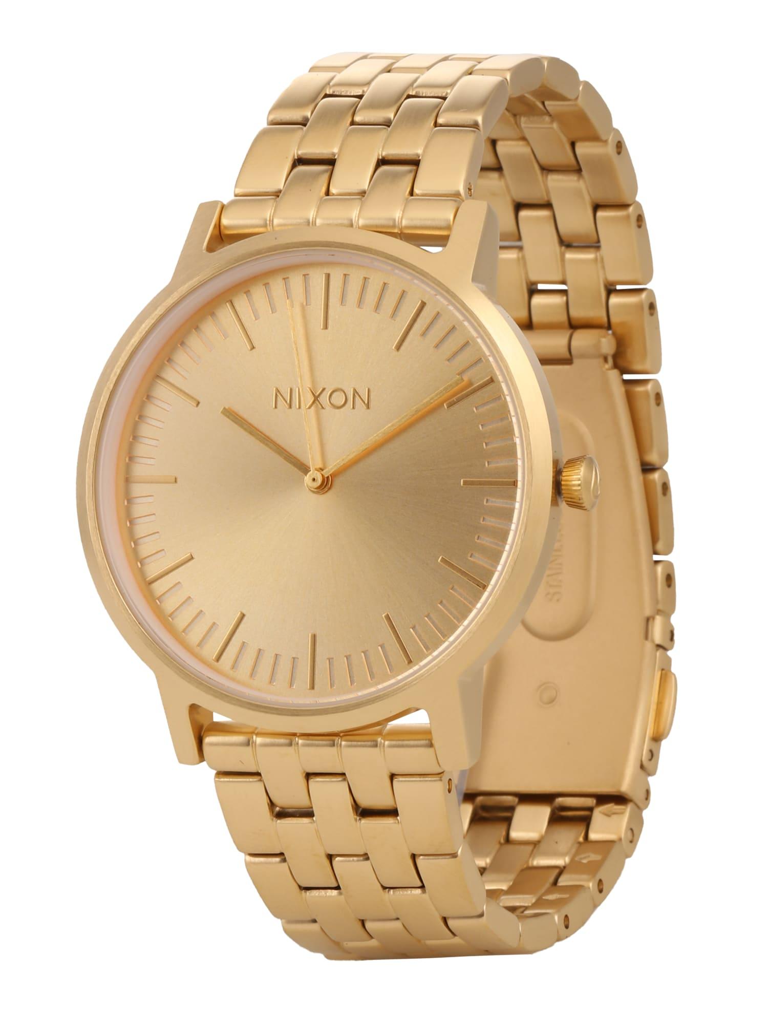 Analogové hodinky Porter zlatá Nixon