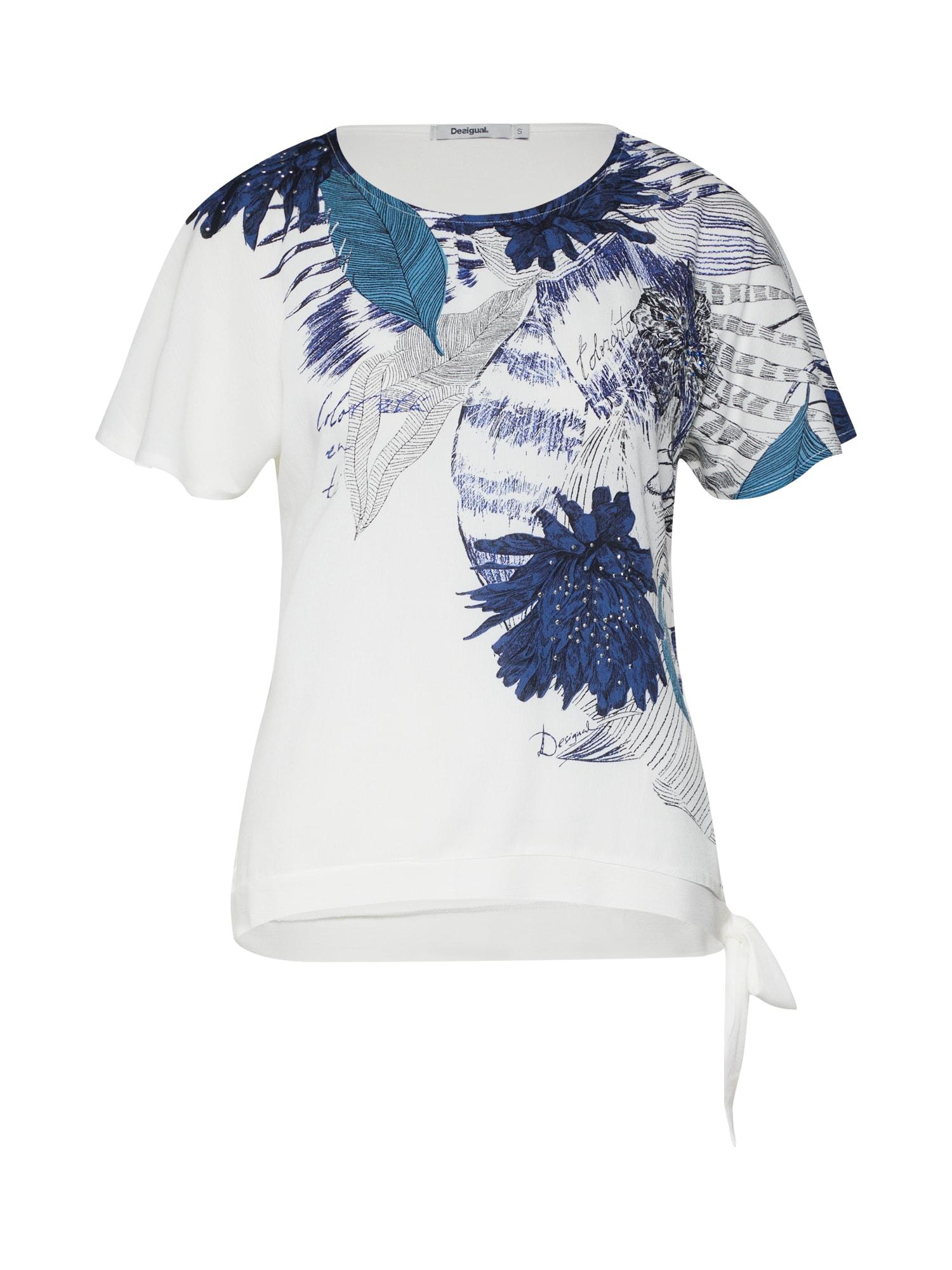 Tričko TS_WICHITAS modrá bílá Desigual