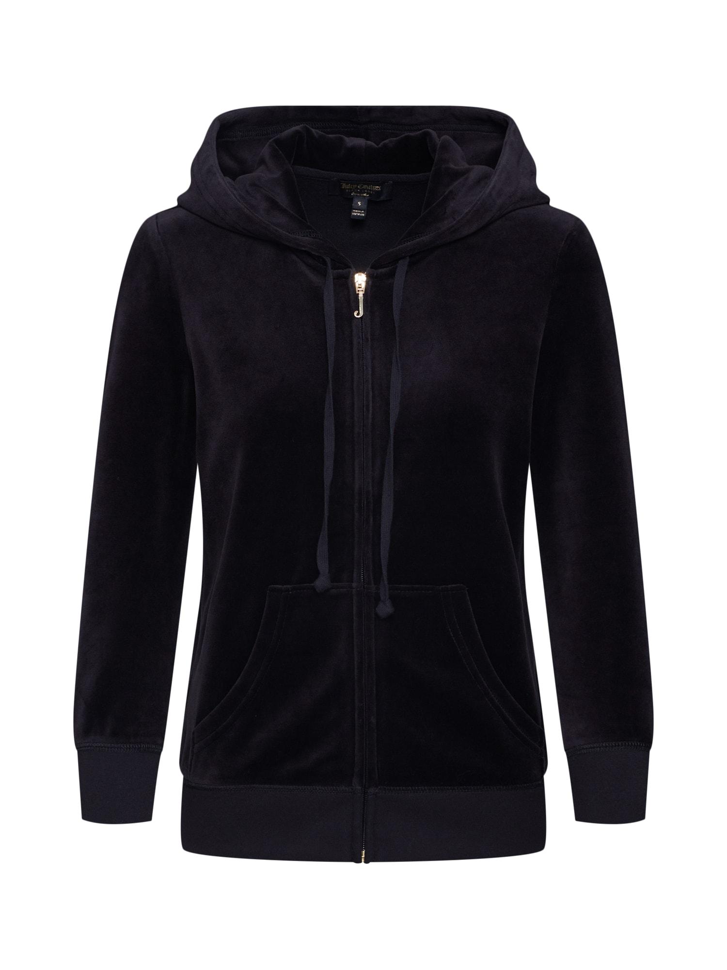 Mikina s kapucí 34 SLV Robertson černá Juicy Couture Black Label