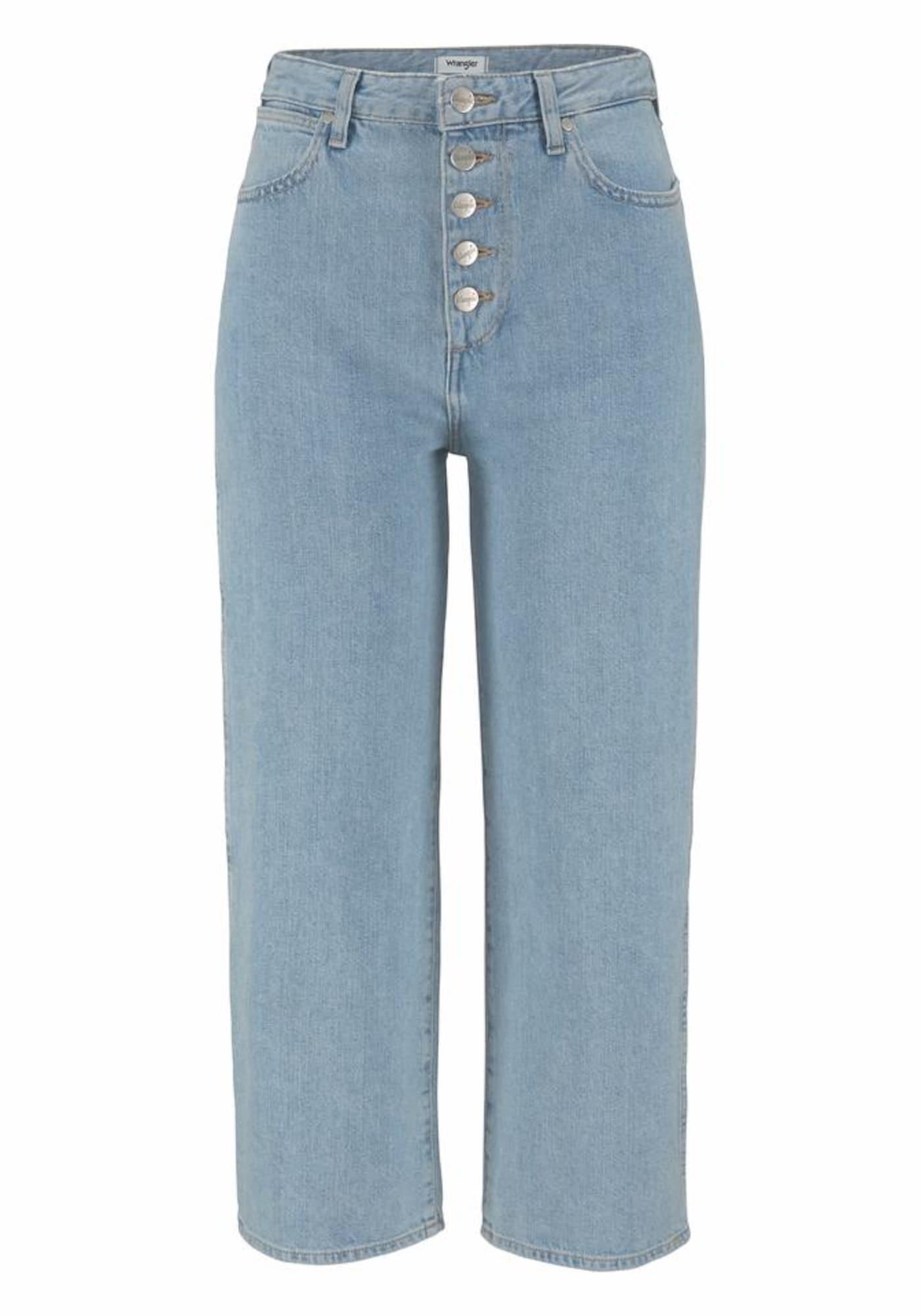 WRANGLER Dames Jeans RETRO CROP BOYFRIEND lichtblauw