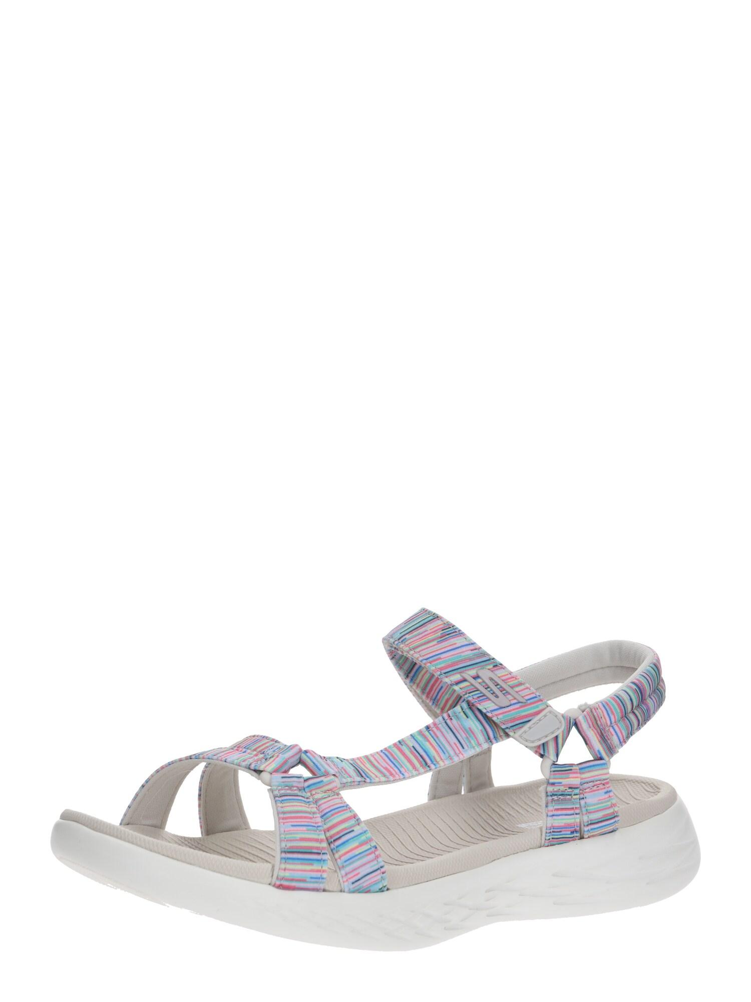 SKECHERS Remienkové sandále 'ON-THE-GO 600'  zmiešané farby / biela