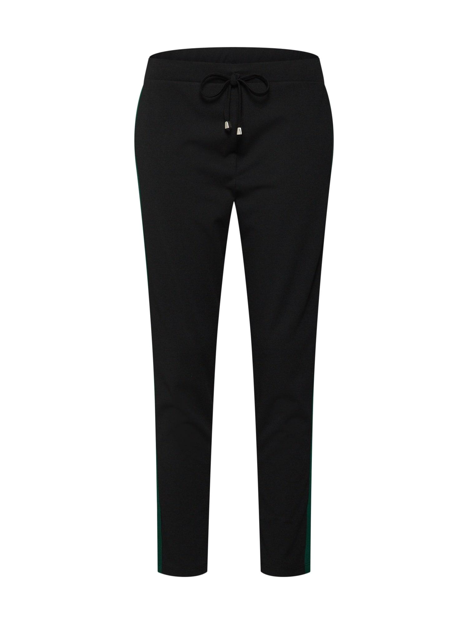 Kalhoty Lorin Trousers smaragdová černá ABOUT YOU