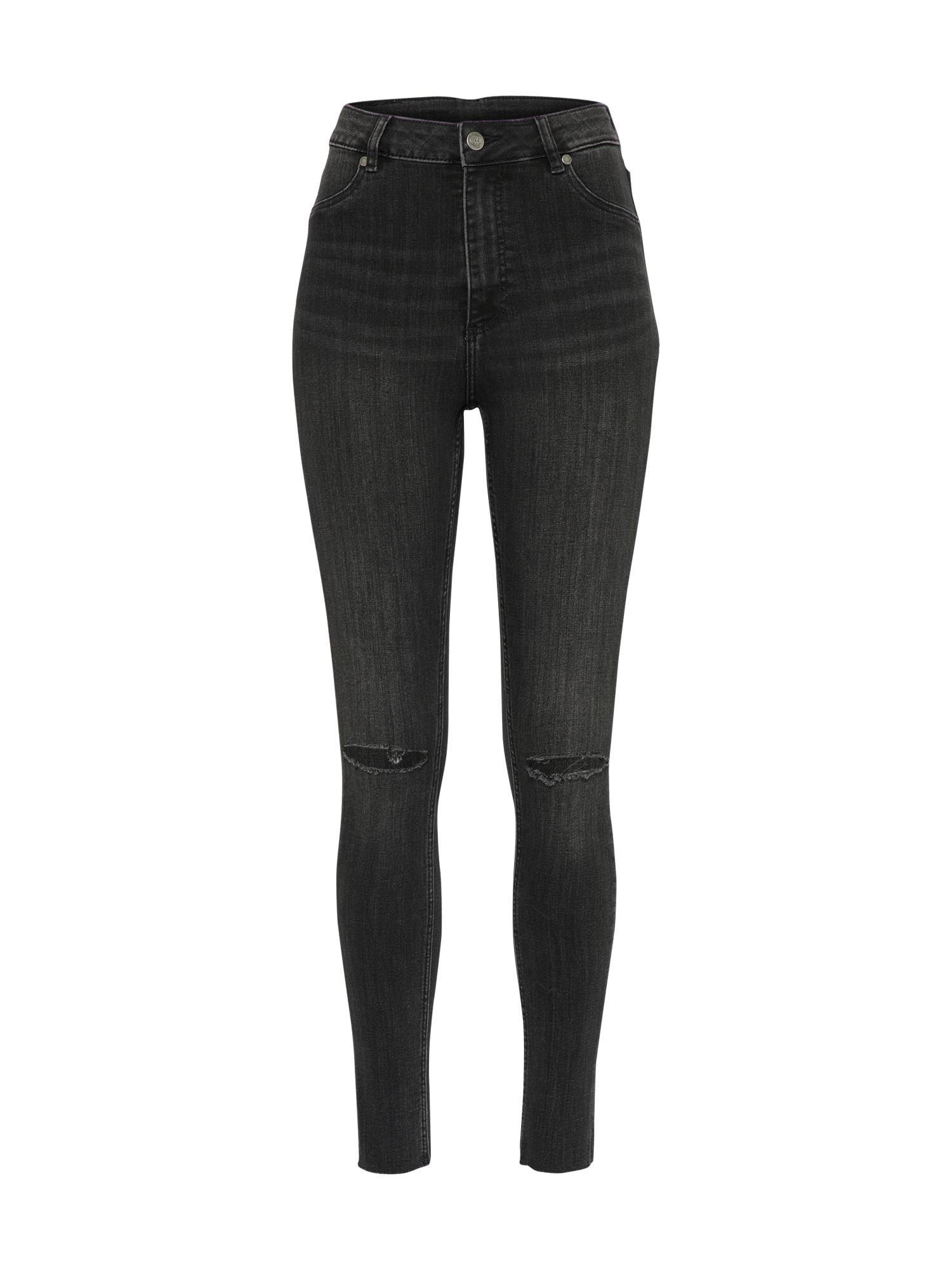 CHEAP MONDAY Dames Jeans High-Spray black denim