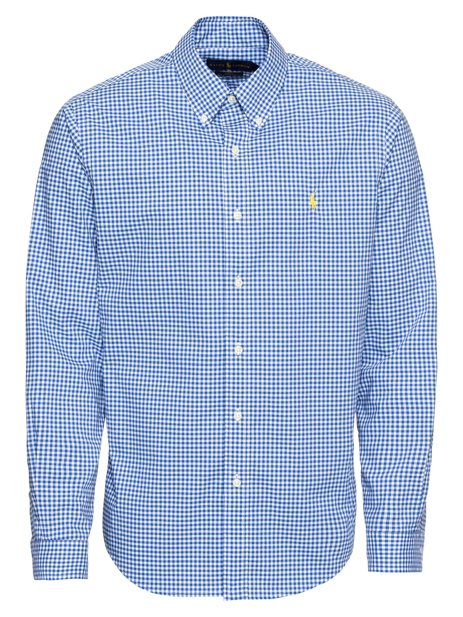 Košile SL BD PPCSPT-LONG SLEEVE-SPORT SHIRT modrá bílá POLO RALPH LAUREN