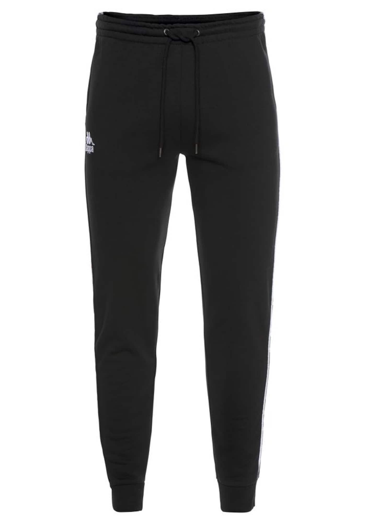 Jogginghose 'Eike'   Sportbekleidung > Sporthosen > Jogginghosen   Schwarz - Weiß   Kappa