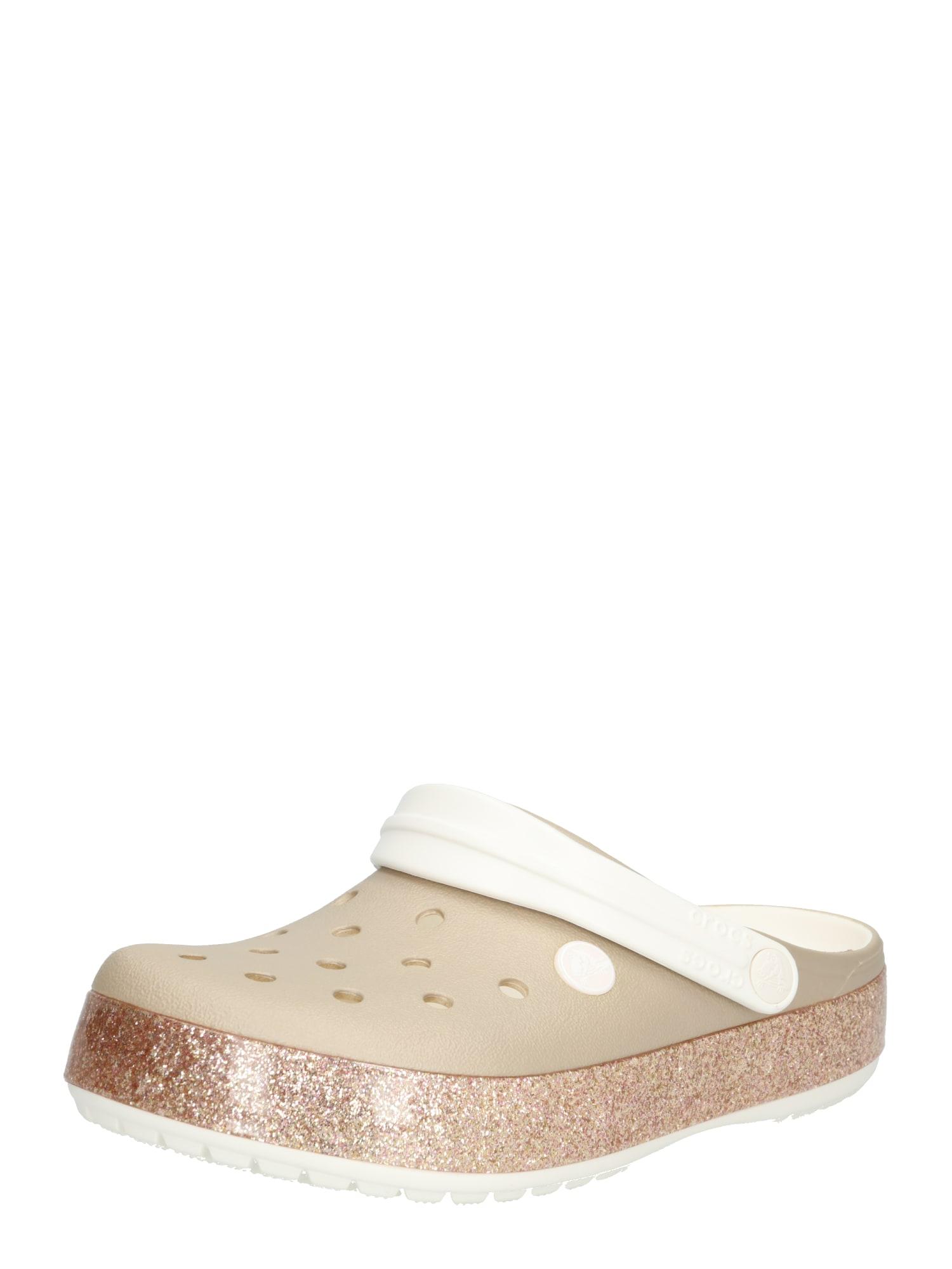Pantofle Crocband Printed Clog champagne zlatá Crocs