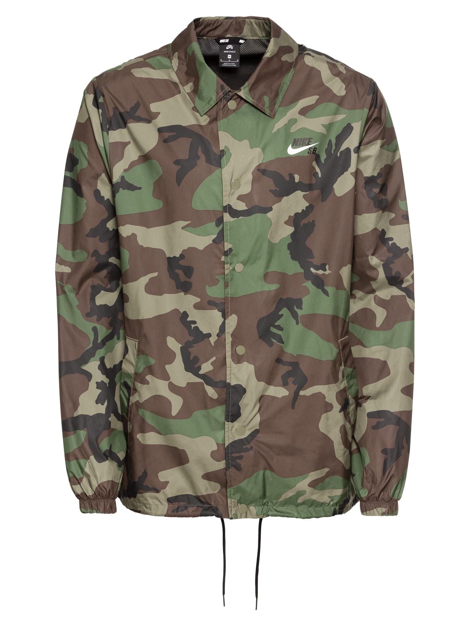 Přechodná bunda hnědá olivová Nike SB