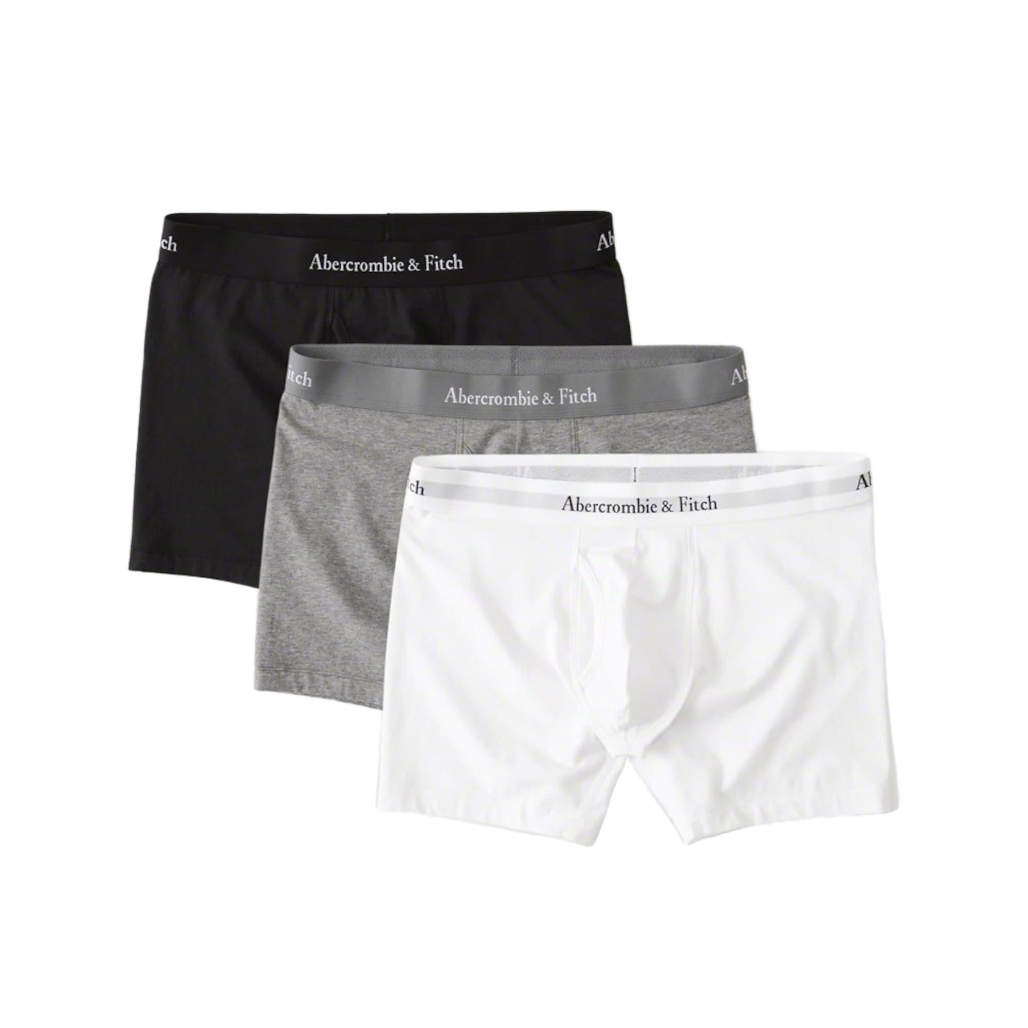 Boxerky BASIC MIXED MULTIPACK šedá černá bílá Abercrombie & Fitch