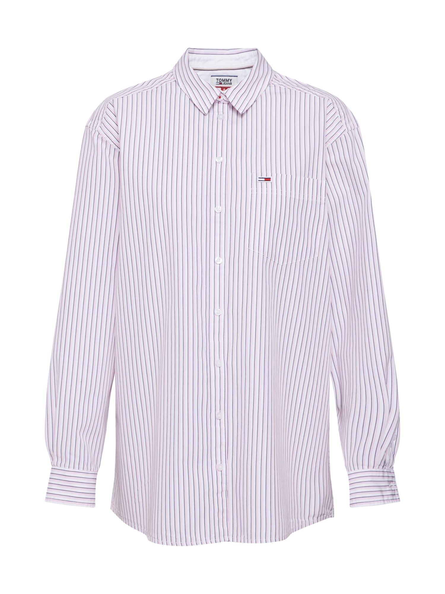Halenka TJW BOYFRIEND MULTISTRIPE SHIRT růžová bílá Tommy Jeans