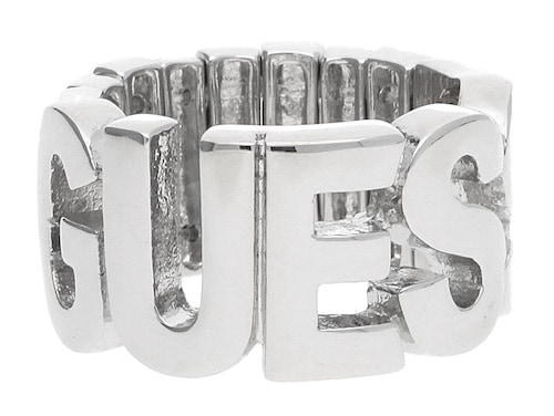 Guess Damen-Fingerring. - Material Metall - Gummizug für flexible Größenanpassung - Lieferung: in Guess Schmuckbeutel Gewicht (ca. g): 10 Material: Metall