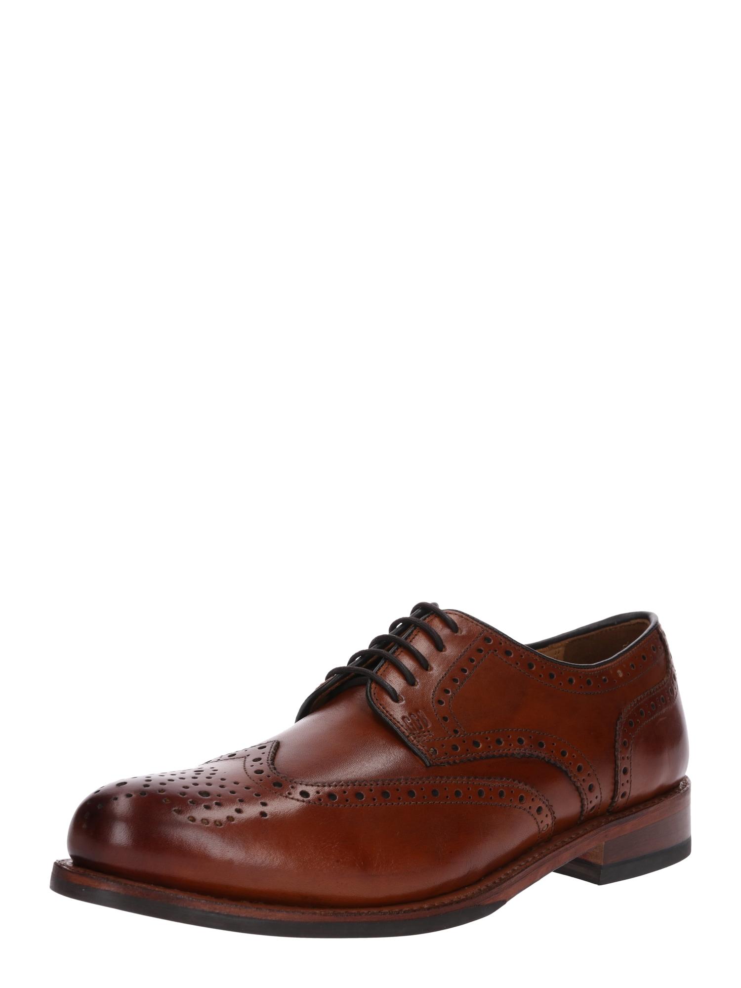 Šněrovací boty Levet hnědá Gordon & Bros