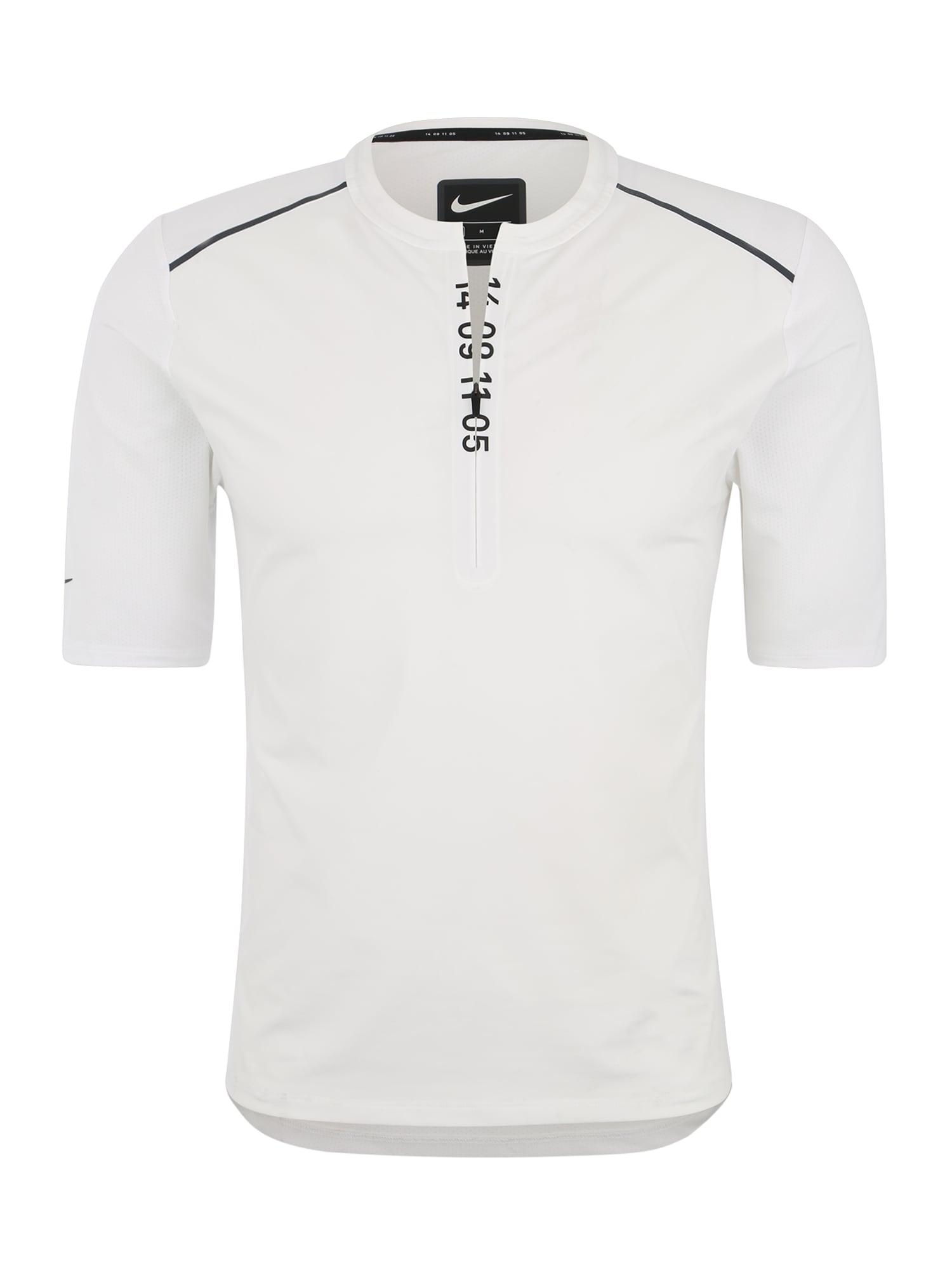 Funkční tričko M NK TCH PCK HZ SS TOP bílá NIKE