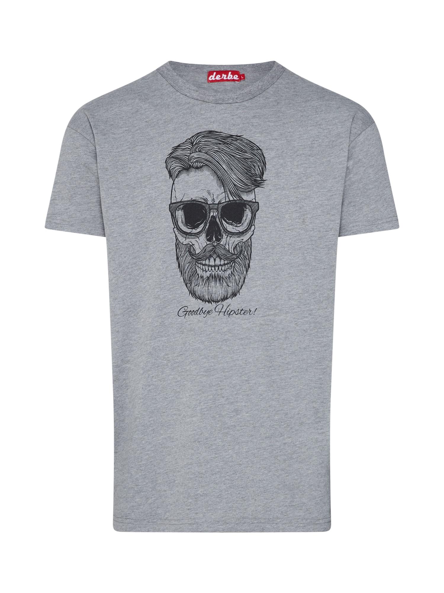 Tričko Hipster šedá černá Derbe