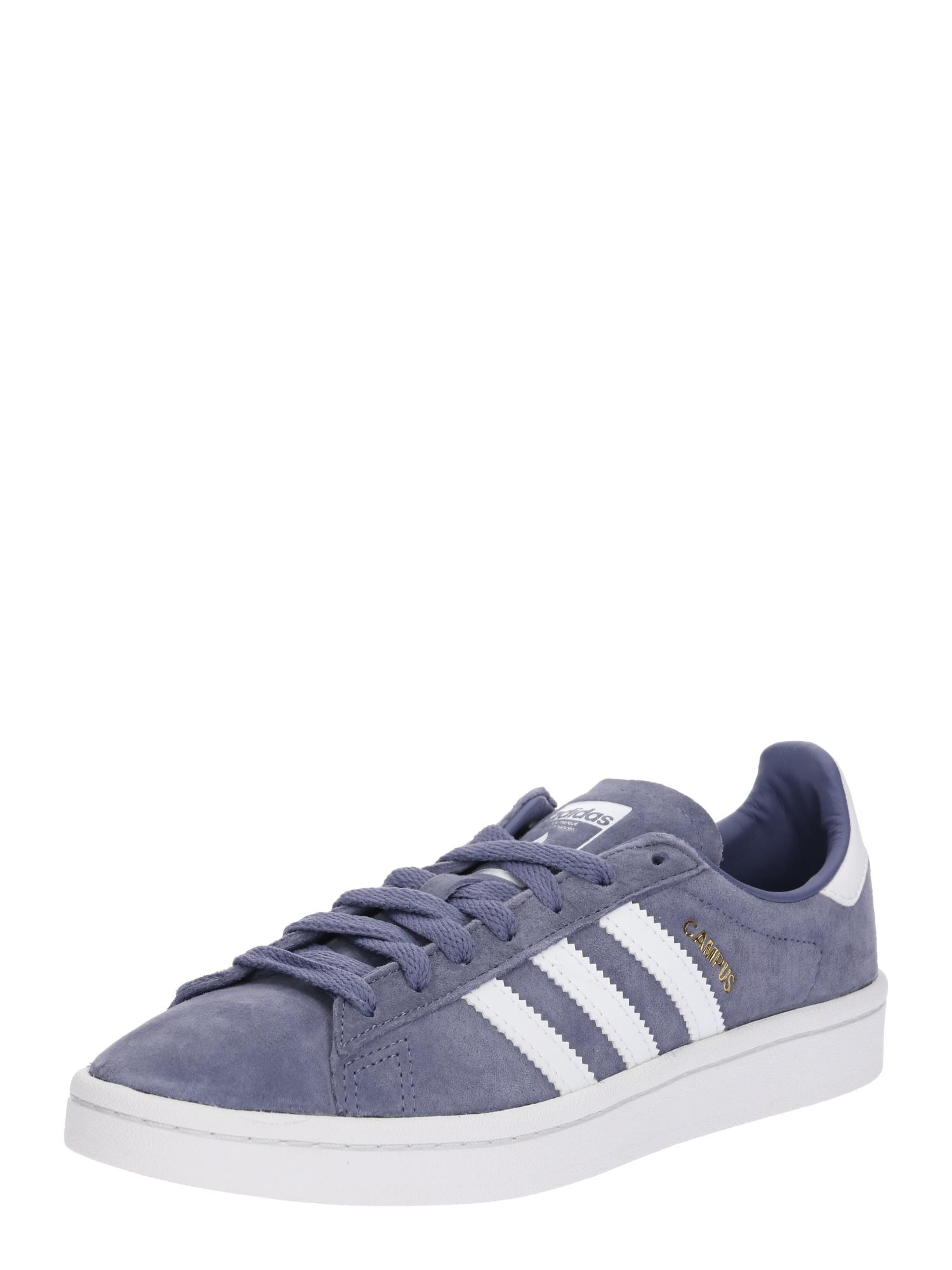 ADIDAS ORIGINALS, Heren Sneakers laag 'Campus', smoky blue / wit