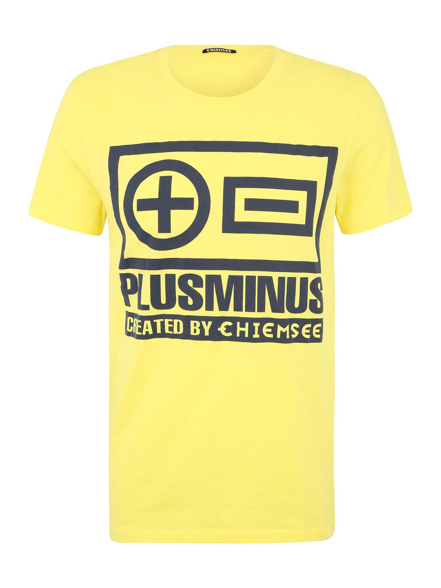 CHIEMSEE Funkční tričko  žlutá / černá