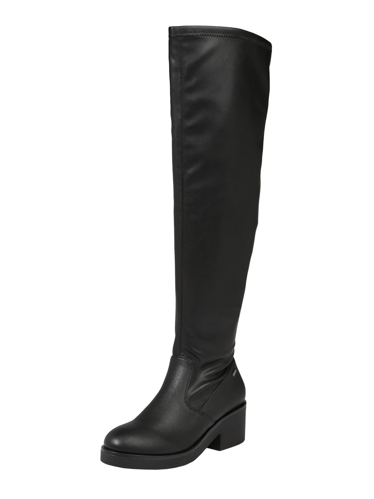 Kozačky nad kolena ALMA černá MTNG