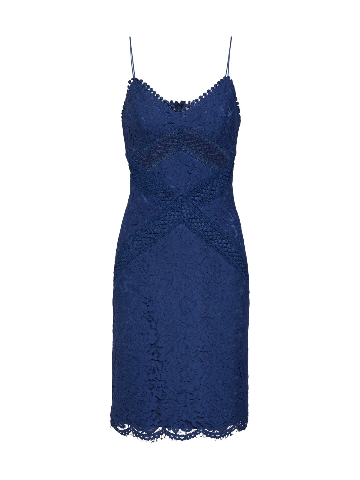 Koktejlové šaty Just One Look námořnická modř Love Triangle