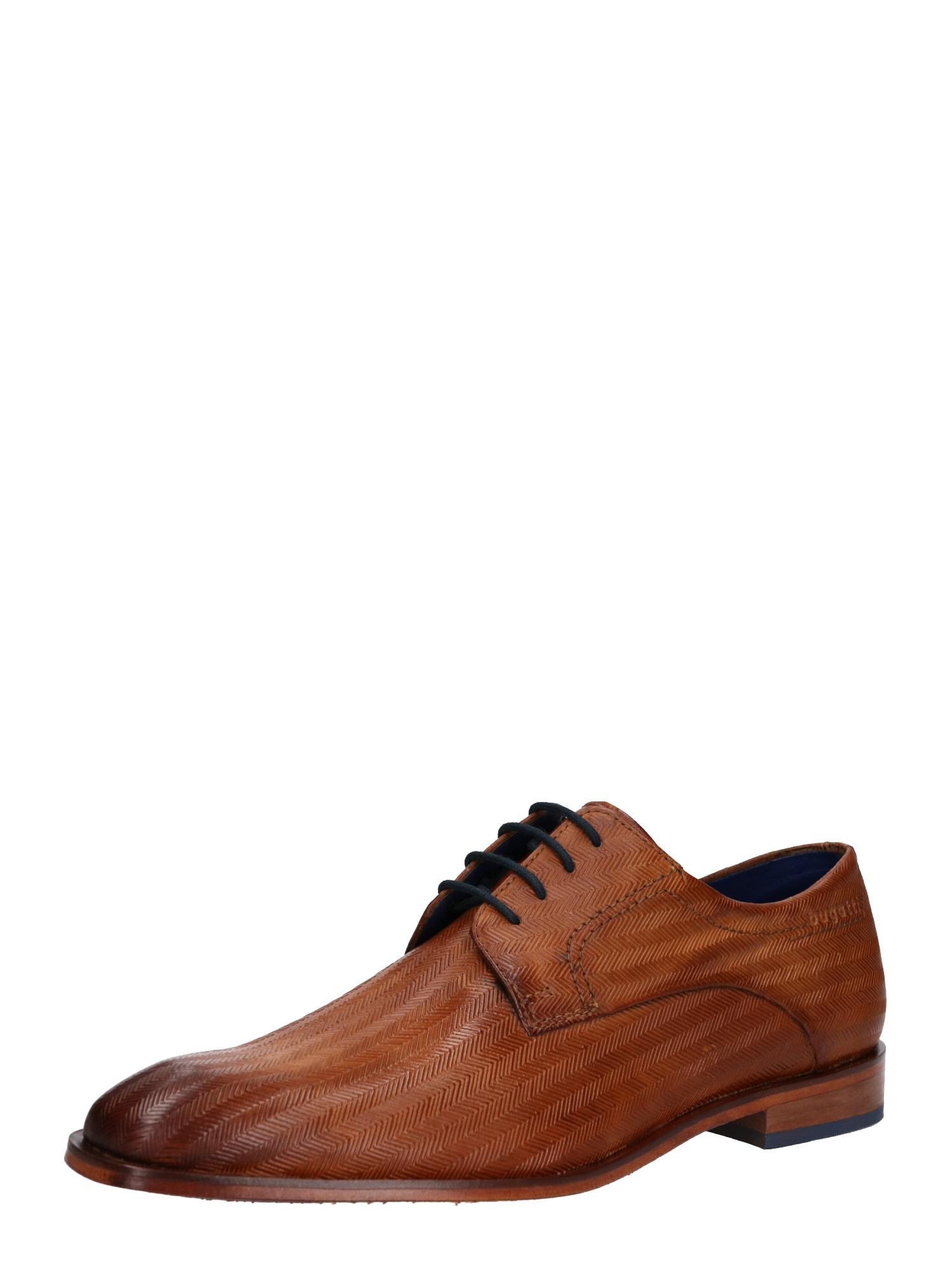 Šněrovací boty Milko koňaková Bugatti