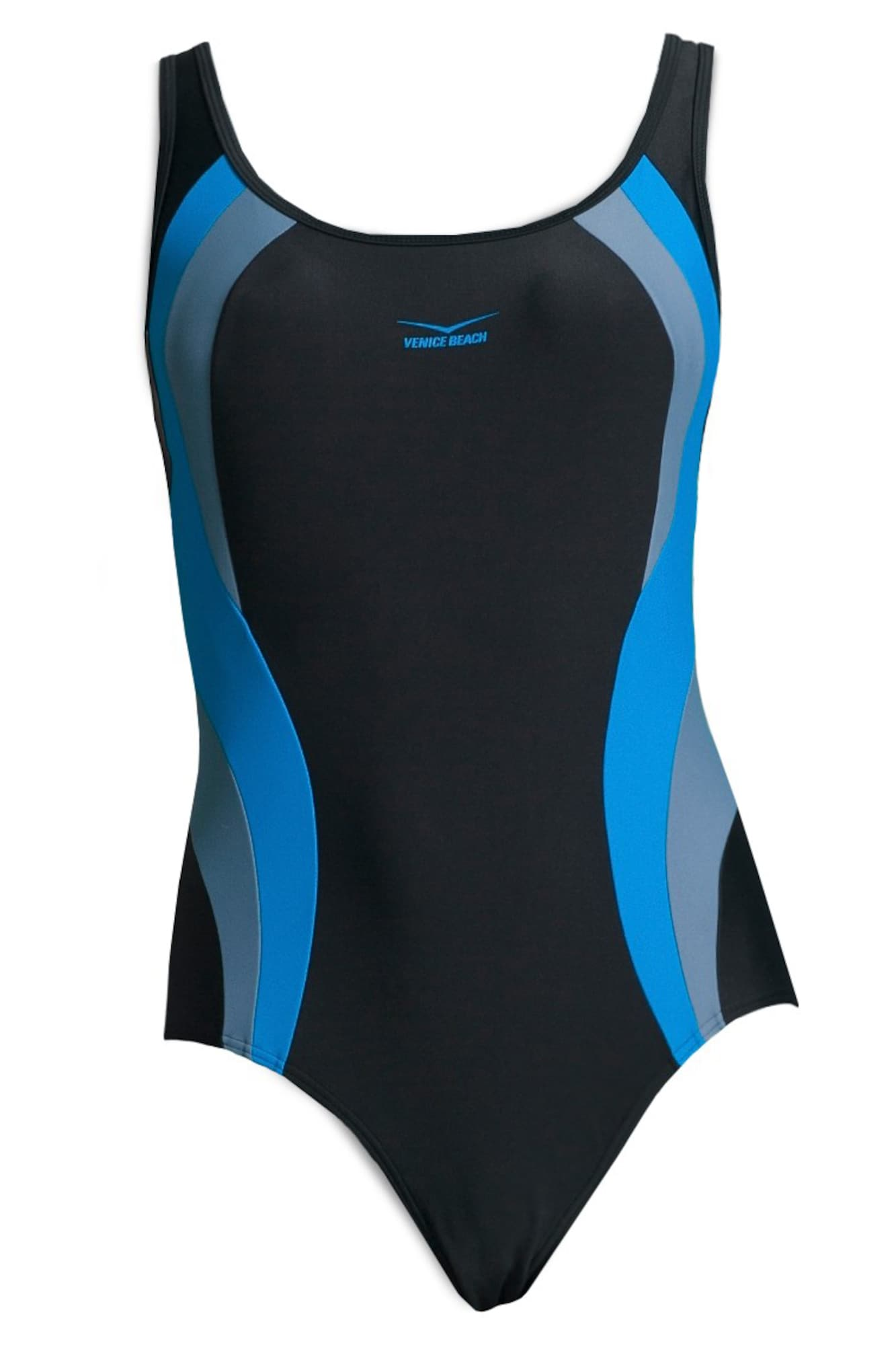 Stahovací plavky modrá černá VENICE BEACH