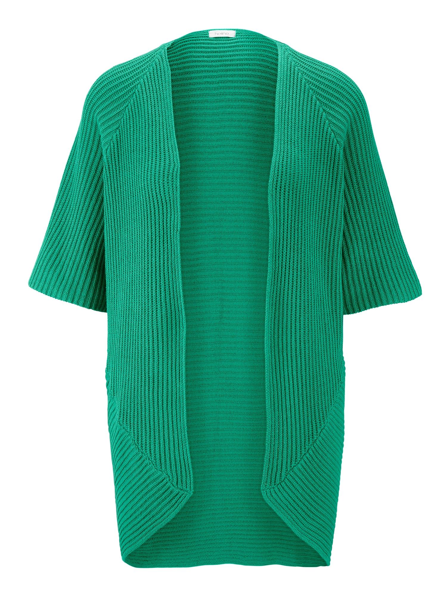 Oversized kardigan zelená Heine