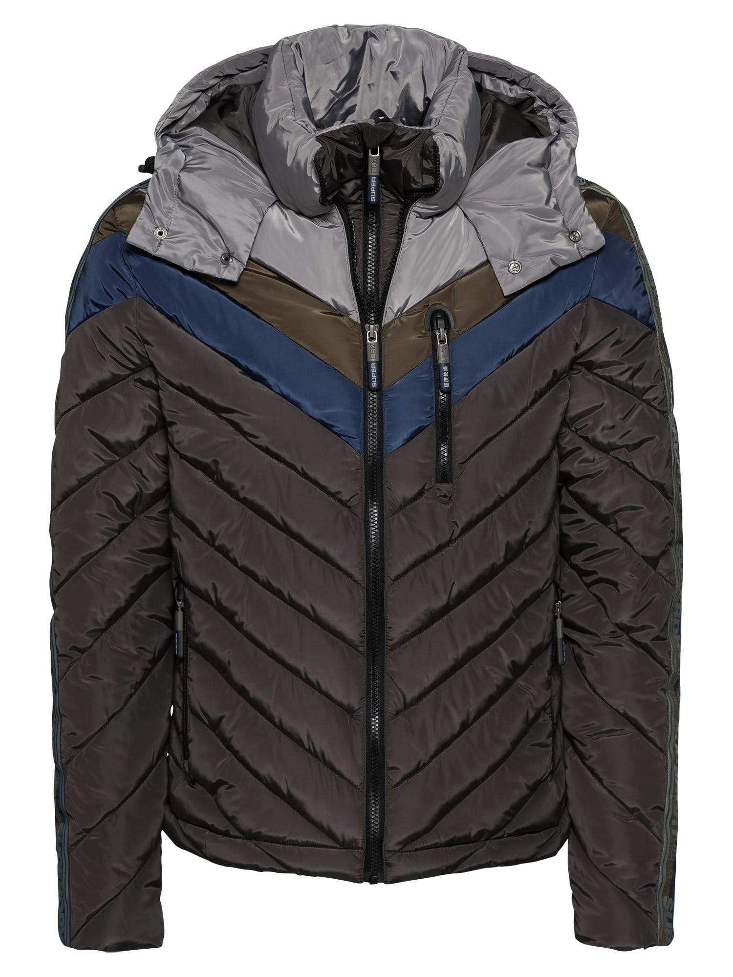 Zimní bunda ULTRA CHEVRON FUJI šedá tmavě zelená Superdry