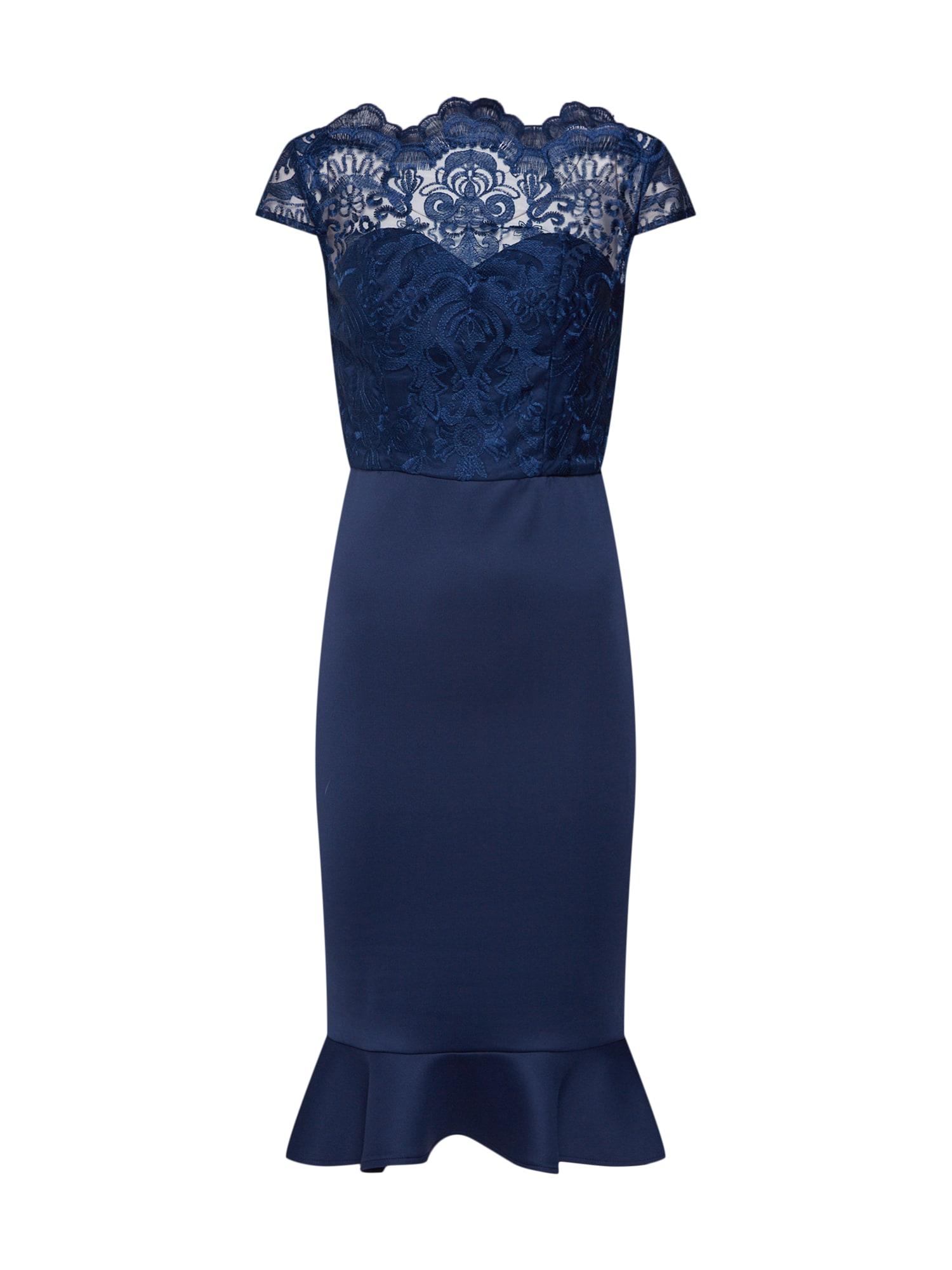 Koktejlové šaty ROMY námořnická modř Chi Chi London