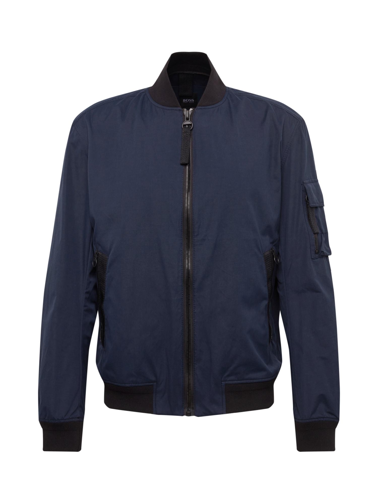 Přechodná bunda Obani 10217407 01 tmavě modrá BOSS