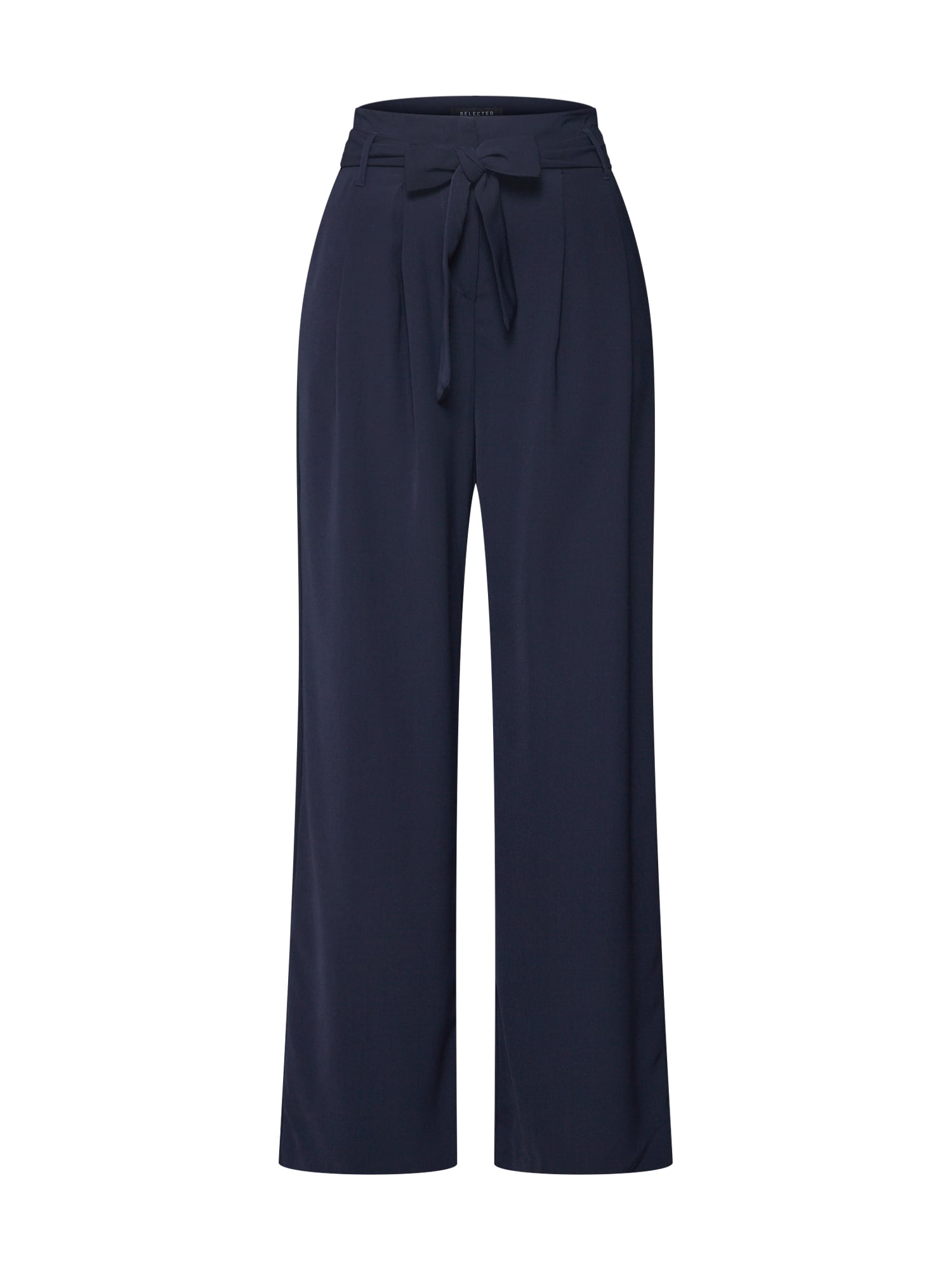 Kalhoty se sklady v pase SLFJESSIE noční modrá SELECTED FEMME