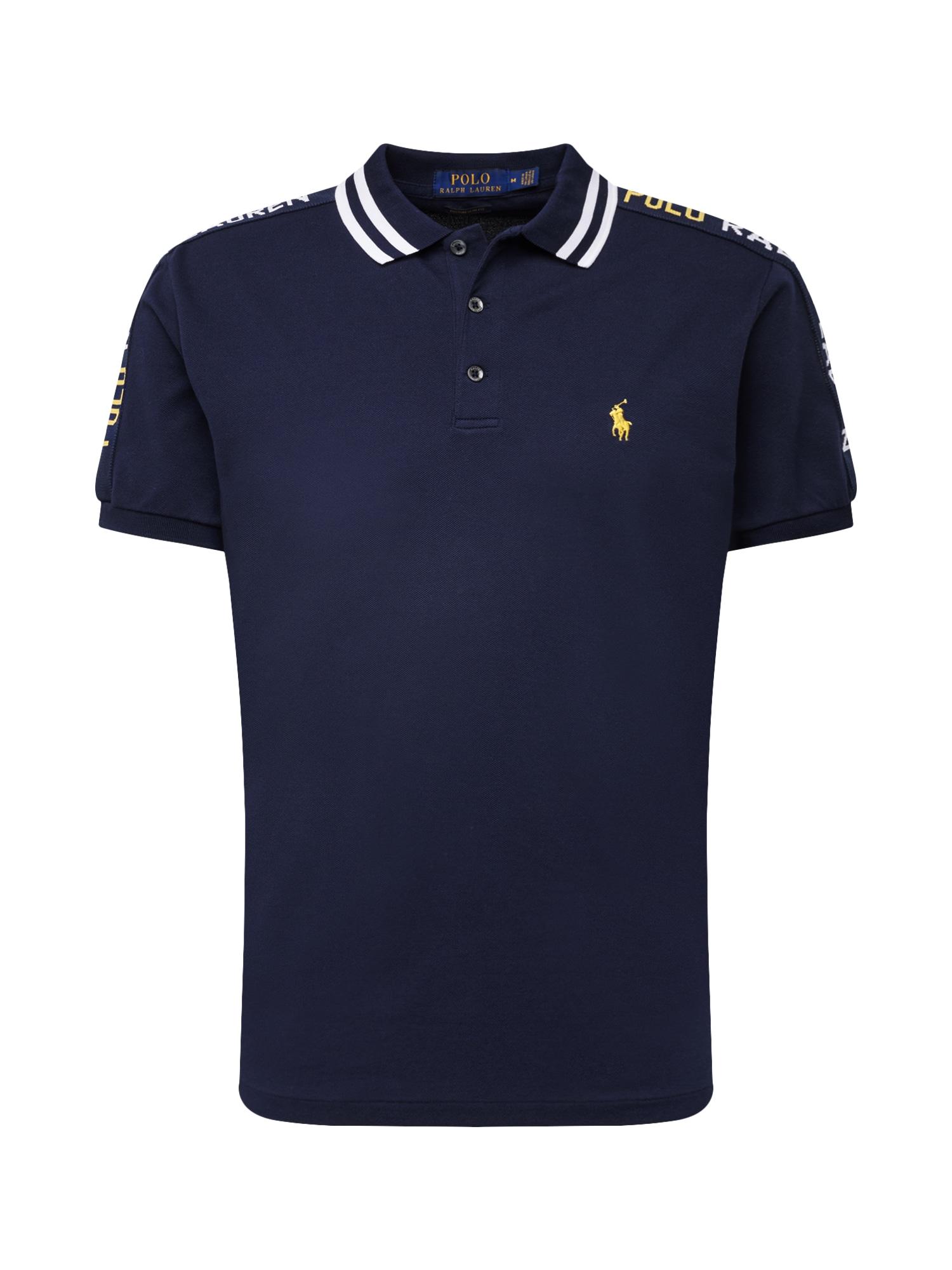 Tričko námořnická modř žlutá bílá POLO RALPH LAUREN