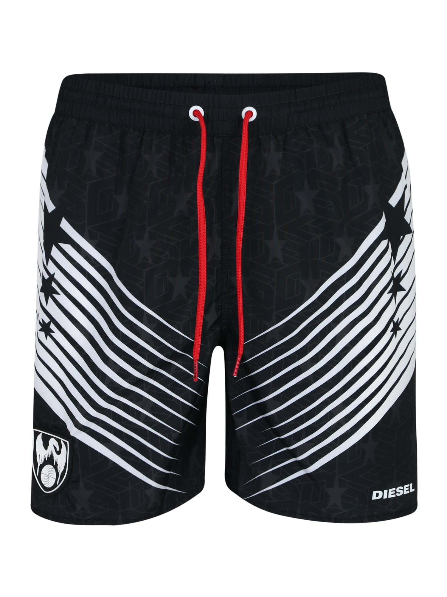 Plavecké šortky SW Boxer Medium černá DIESEL
