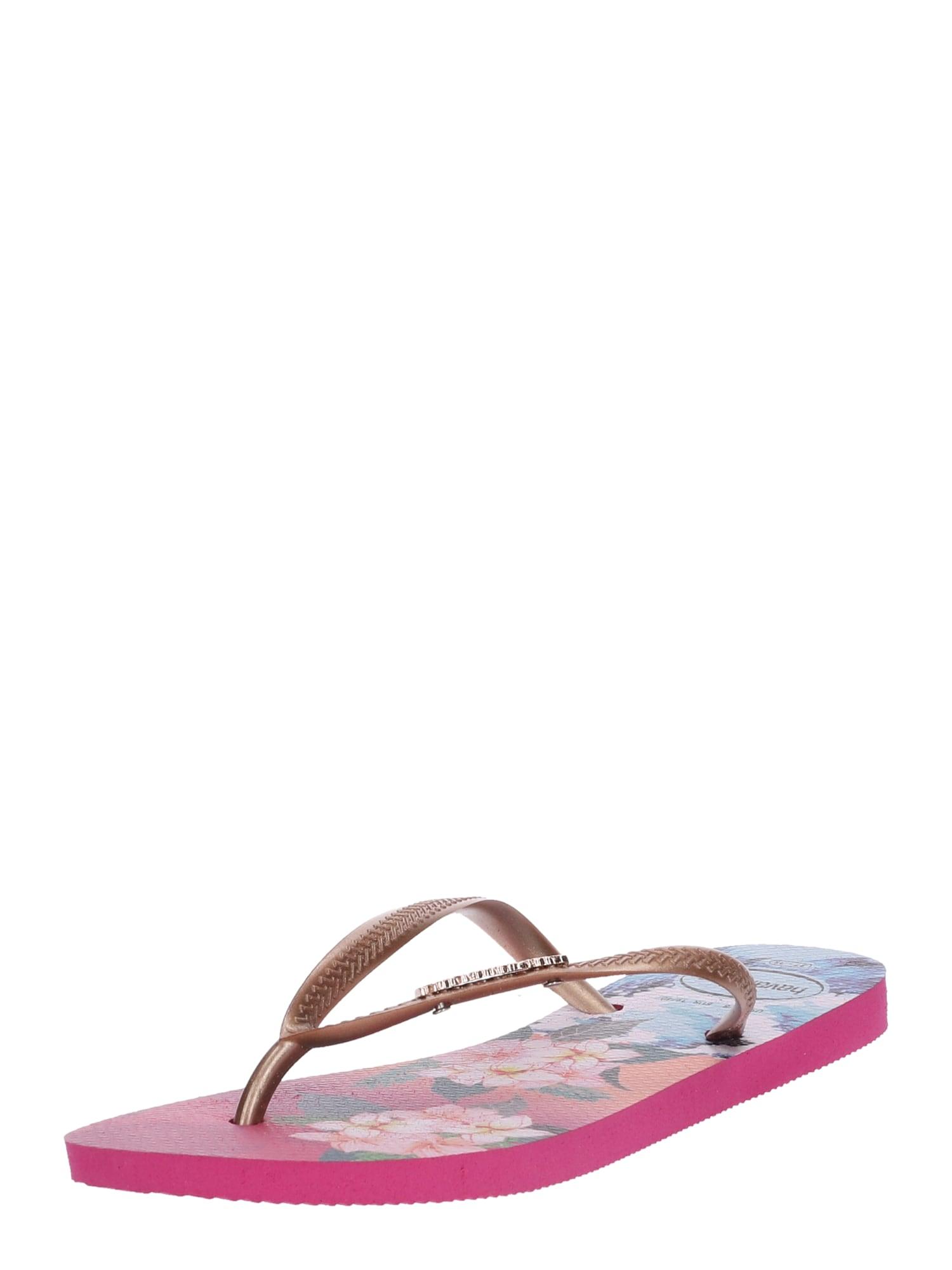 Žabky Slim Tropical Wave béžová modrá pink HAVAIANAS
