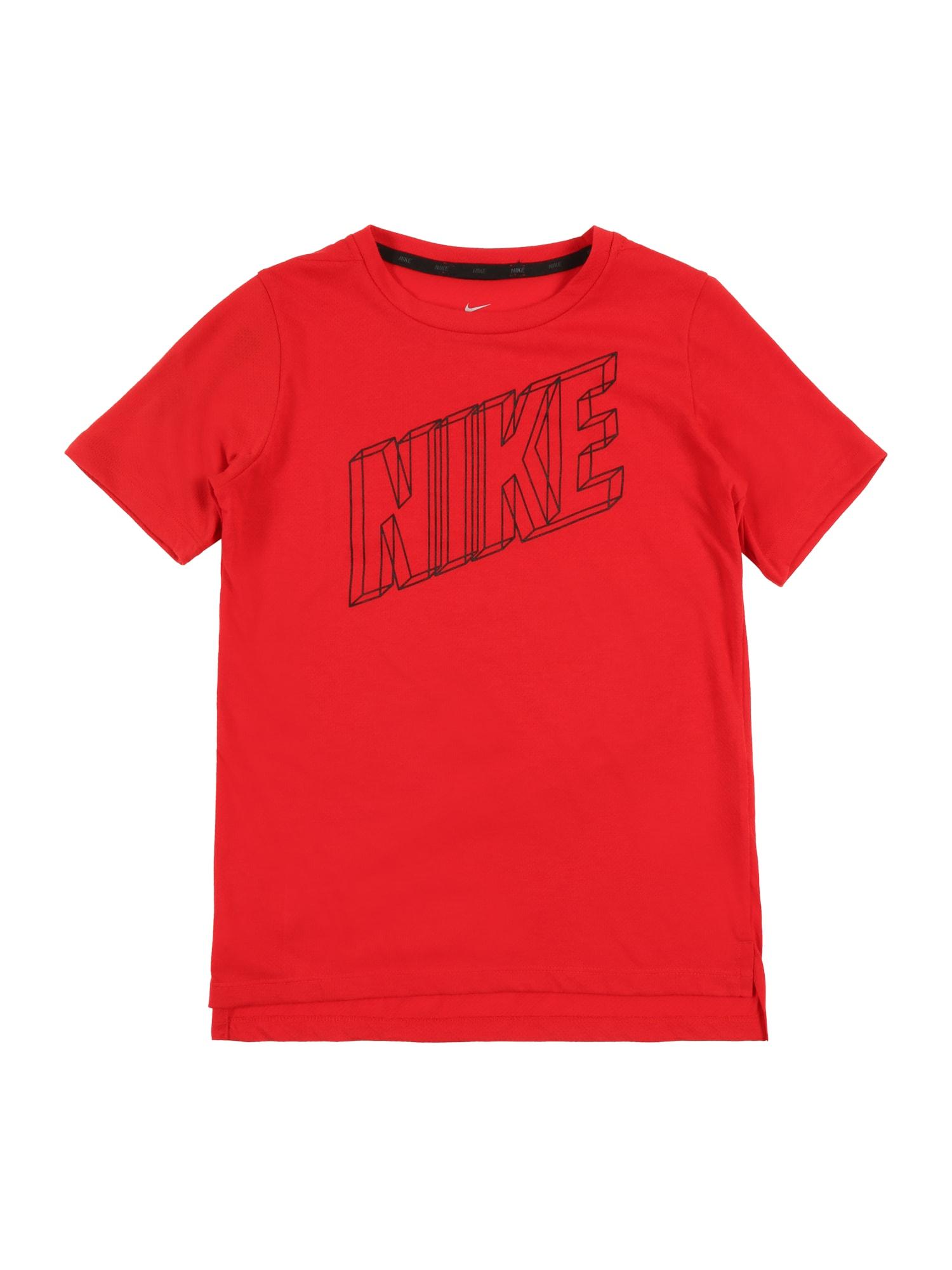 Funkční tričko červená NIKE