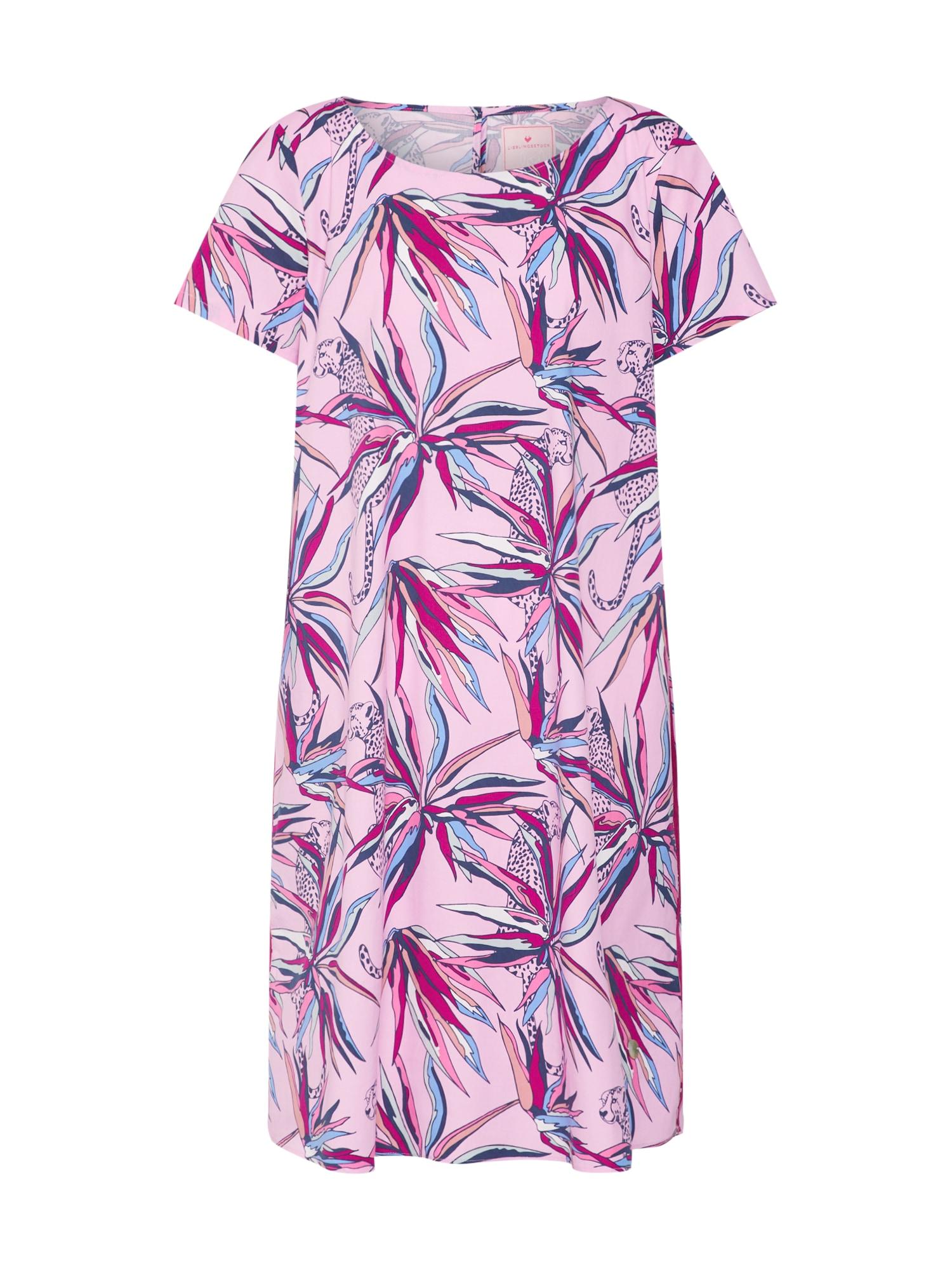 Letní šaty ElnaL mix barev růžová LIEBLINGSSTÜCK
