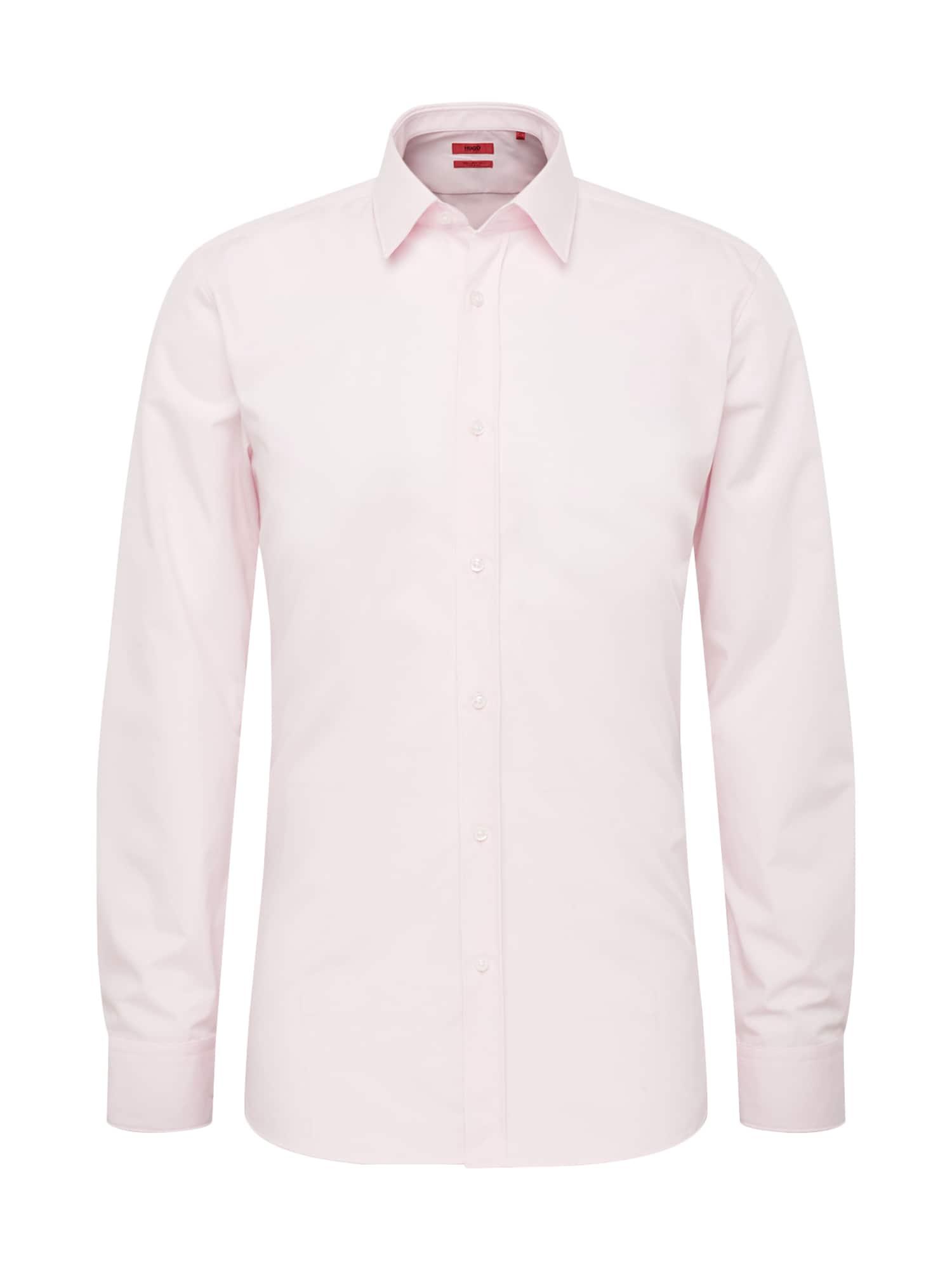 Společenská košile Elisha01 10181991 04 růžová HUGO